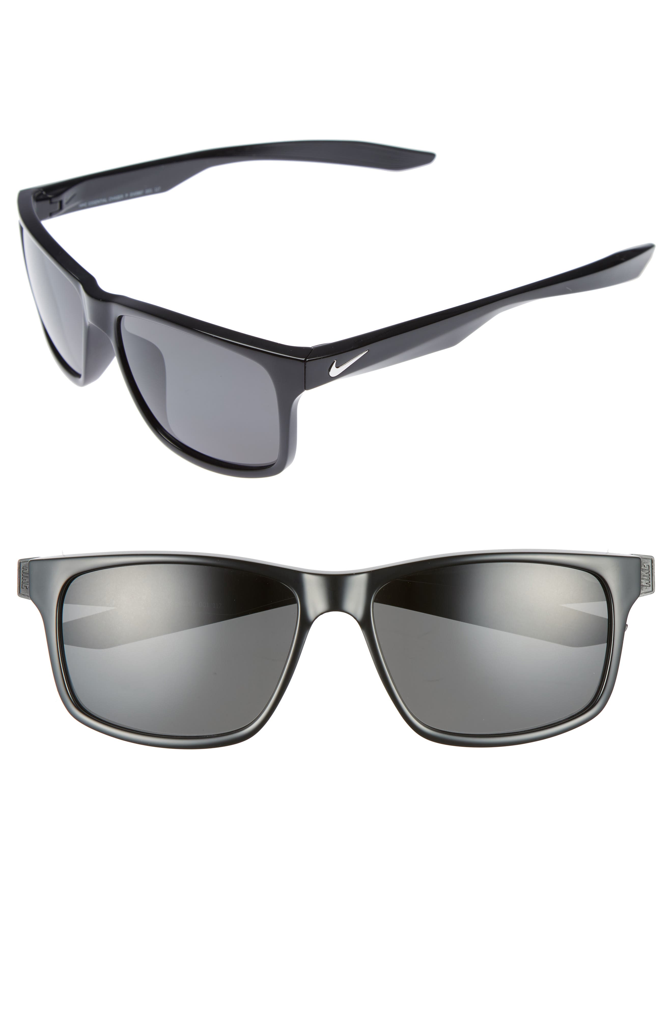 Essential Chaser 59mm Polarized Sunglasses,                         Main,                         color, Matte Black