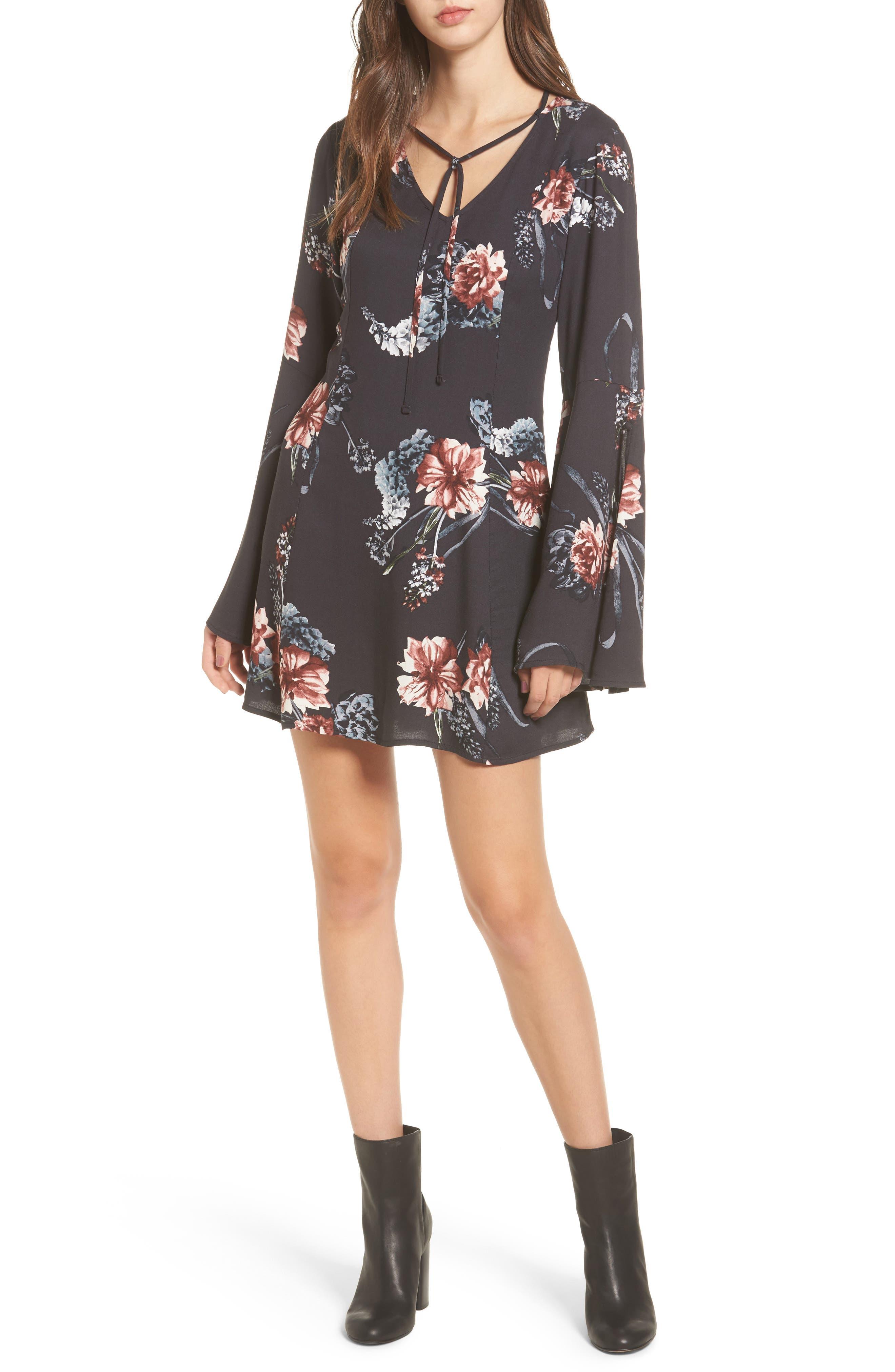 Somedays Lovin Homecoming Floral Print Dress