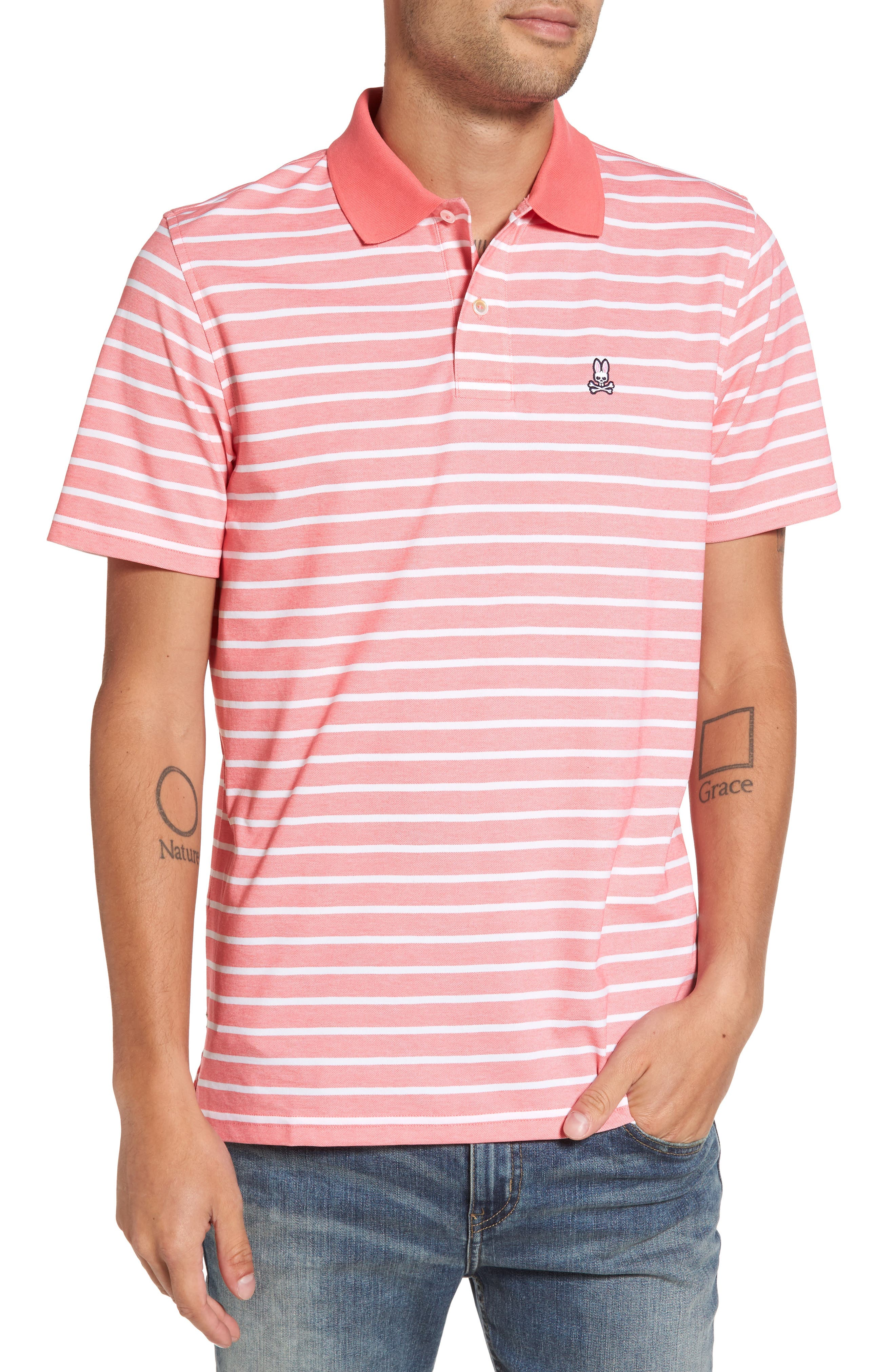 Psycho Bunny Golf Striped Polo