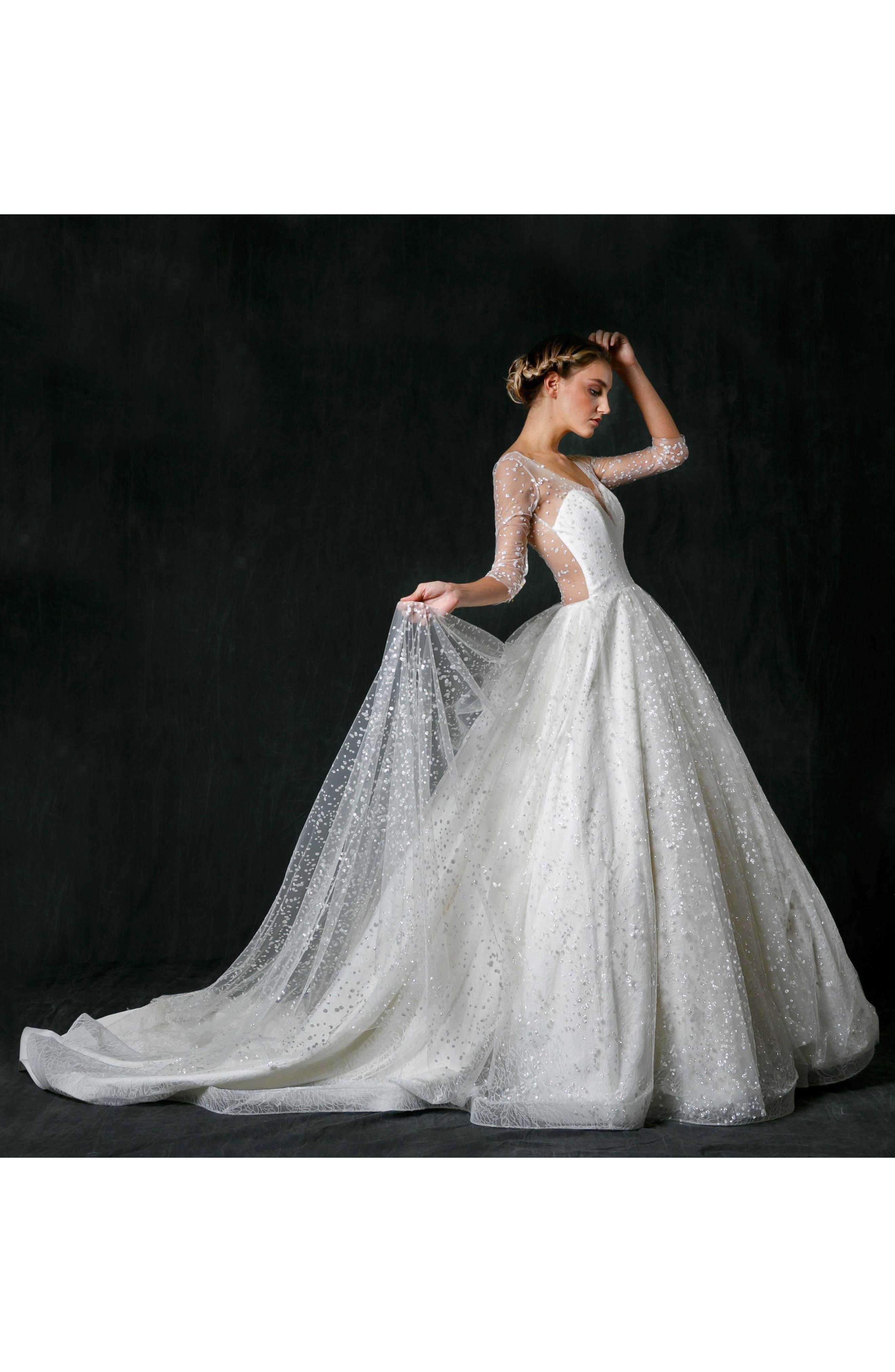 Alternate Image 4  - Sareh Nouri Nannette Sparkle Lace Ballgown