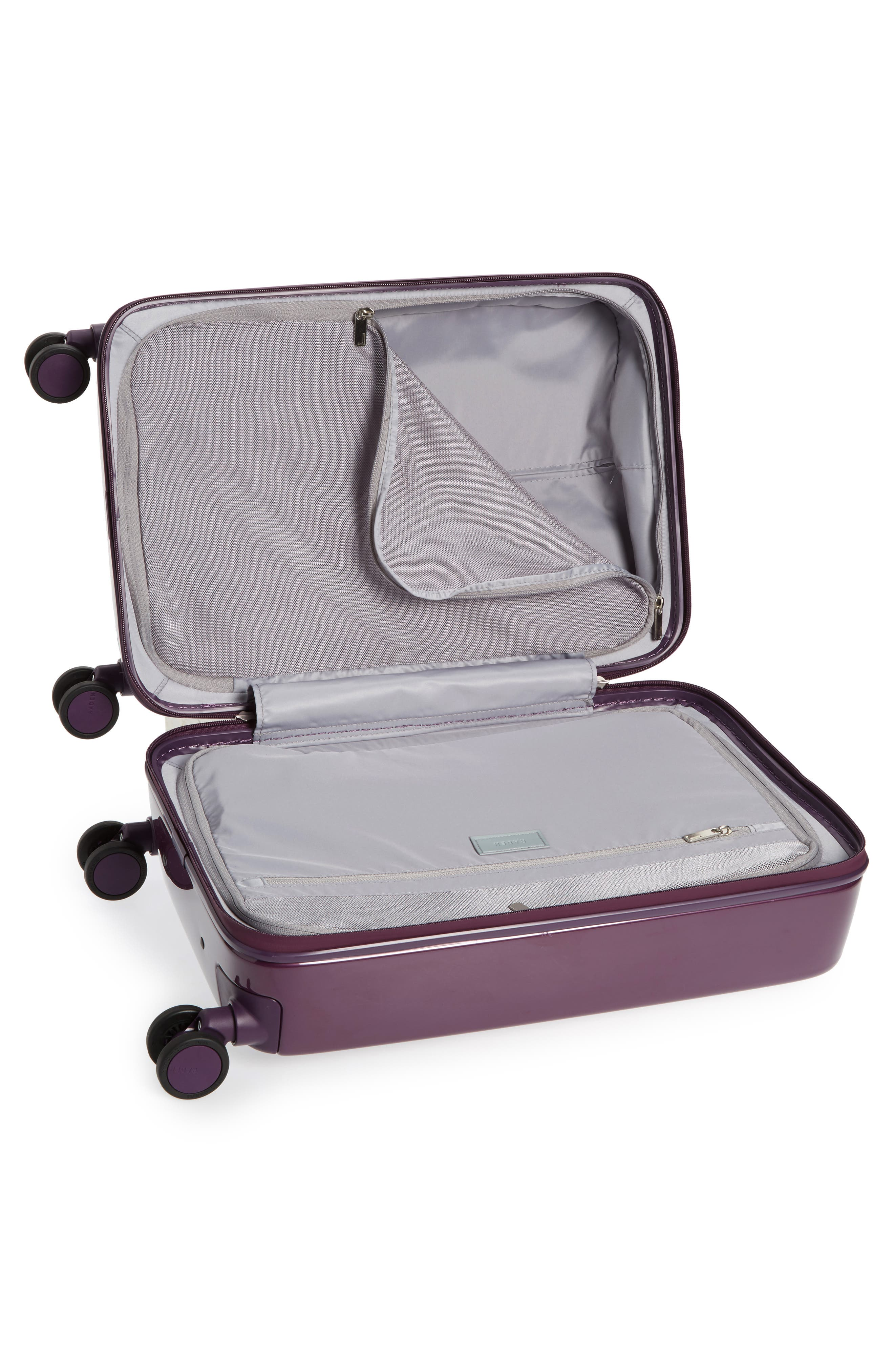 The A22 22-Inch Charging Wheeled Carry-On,                             Alternate thumbnail 2, color,                             Shadow Purple Gloss