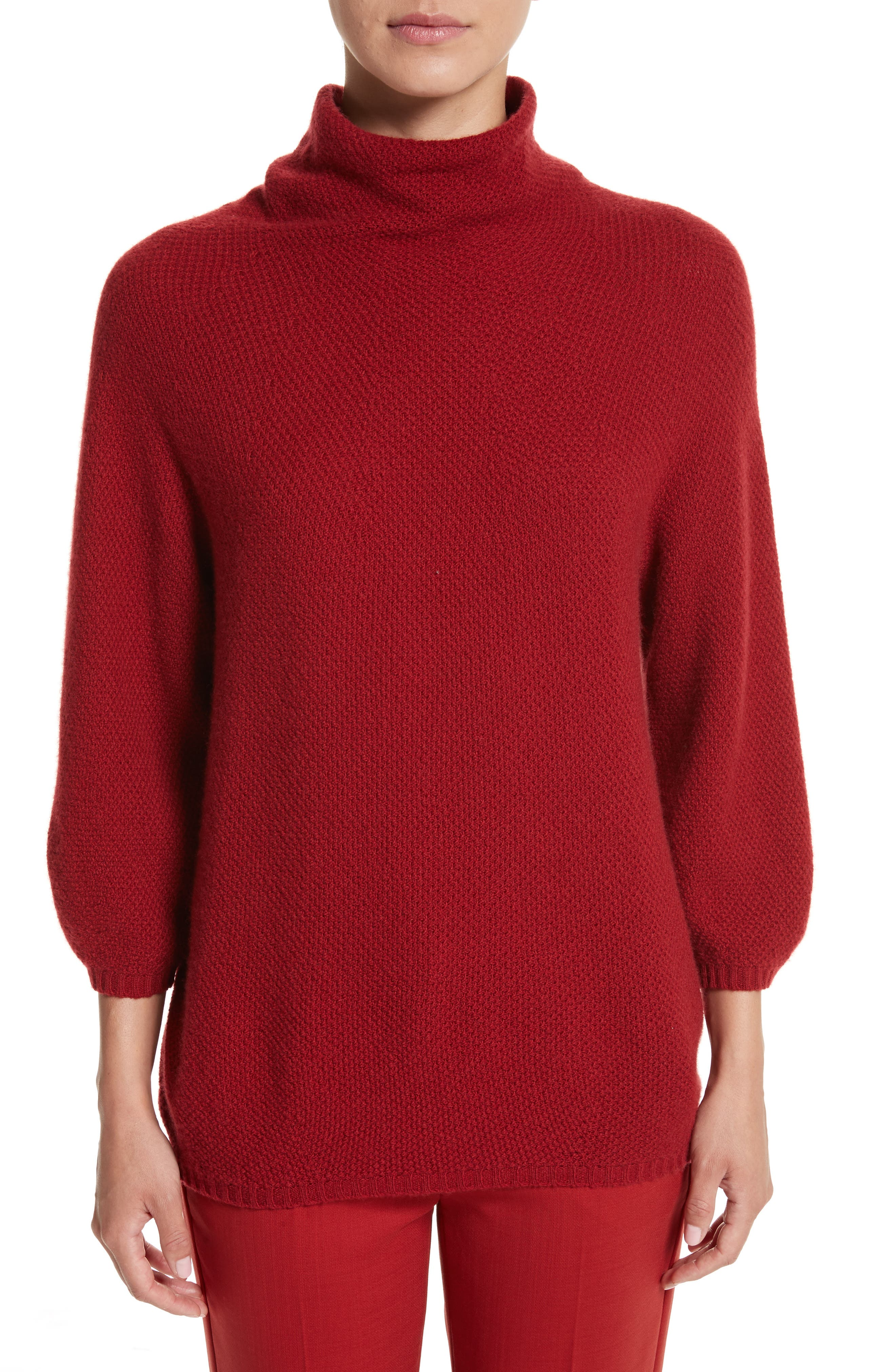 Belgio Wool & Cashmere Sweater,                         Main,                         color, Red