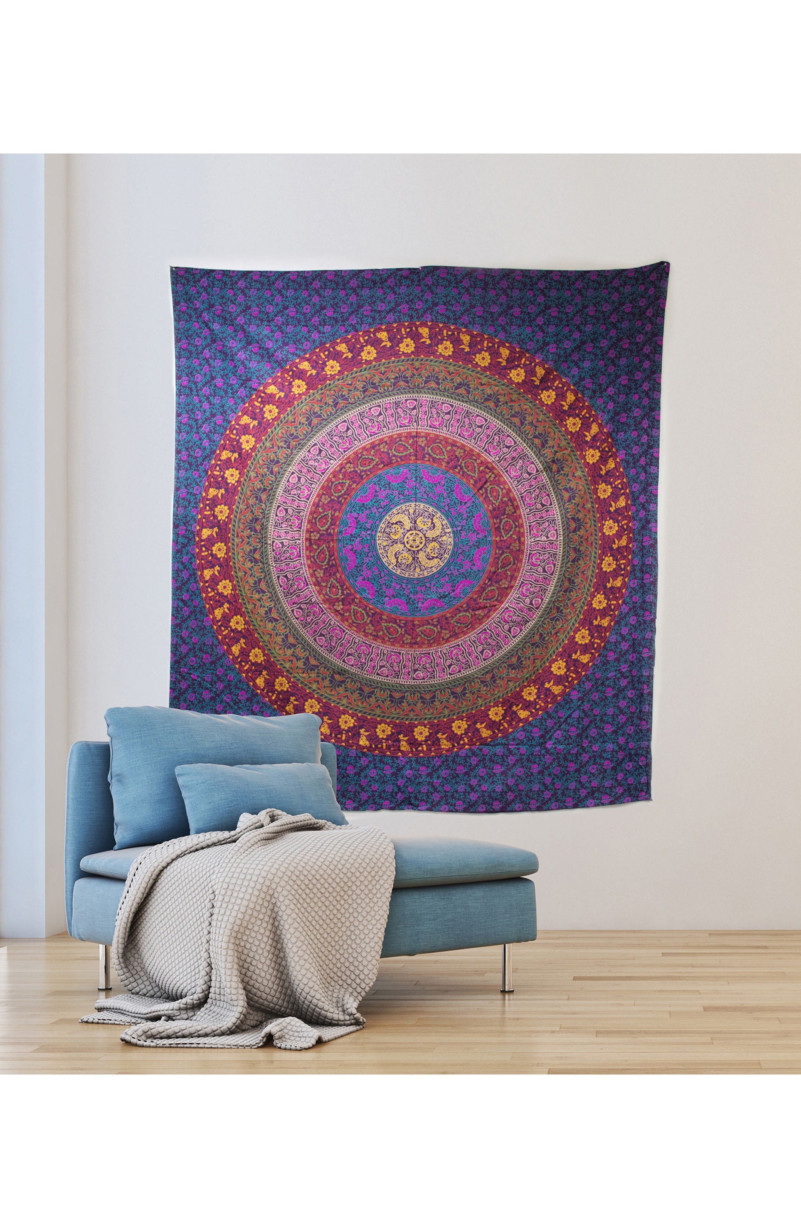 Meher Wall Tapestry,                             Alternate thumbnail 2, color,                             Purple