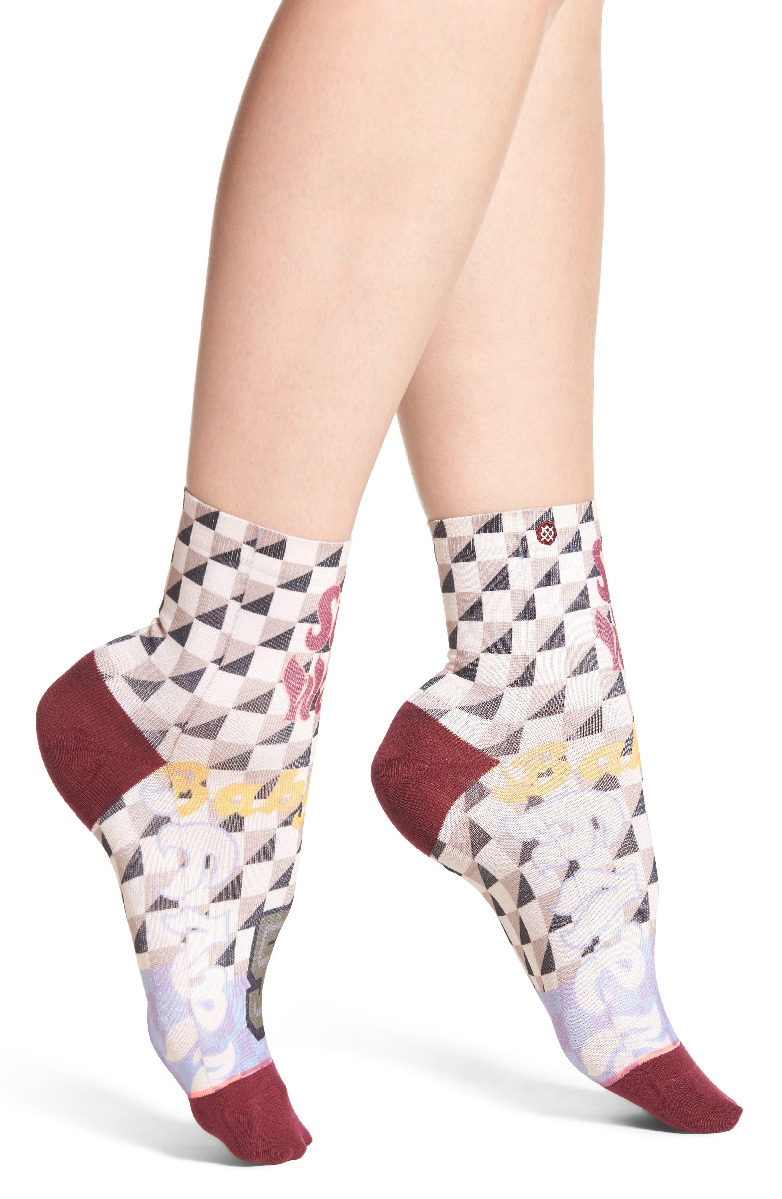 Lowrider Supa Wavy Socks,                             Alternate thumbnail 2, color,                             White Multi