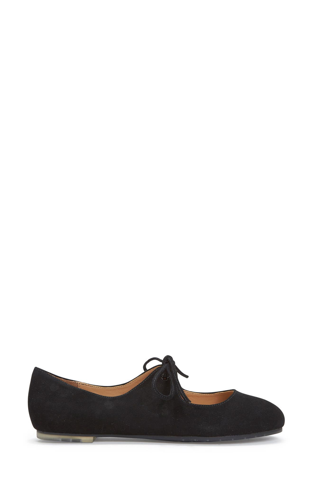 Cacey Mary Jane Flat,                             Alternate thumbnail 3, color,                             Black Suede