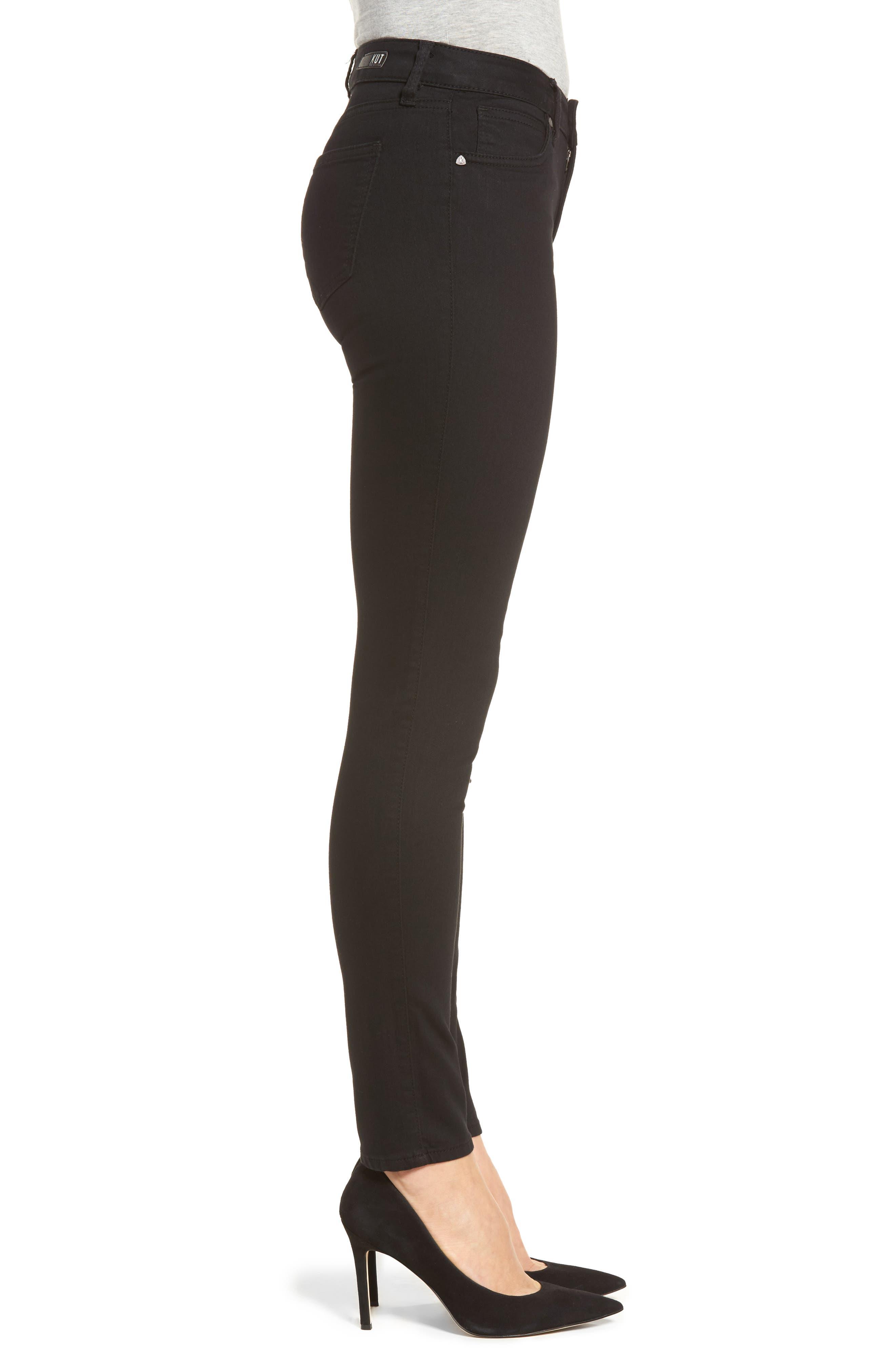 Diana Curvy Fit Skinny Jeans,                             Alternate thumbnail 3, color,                             Black