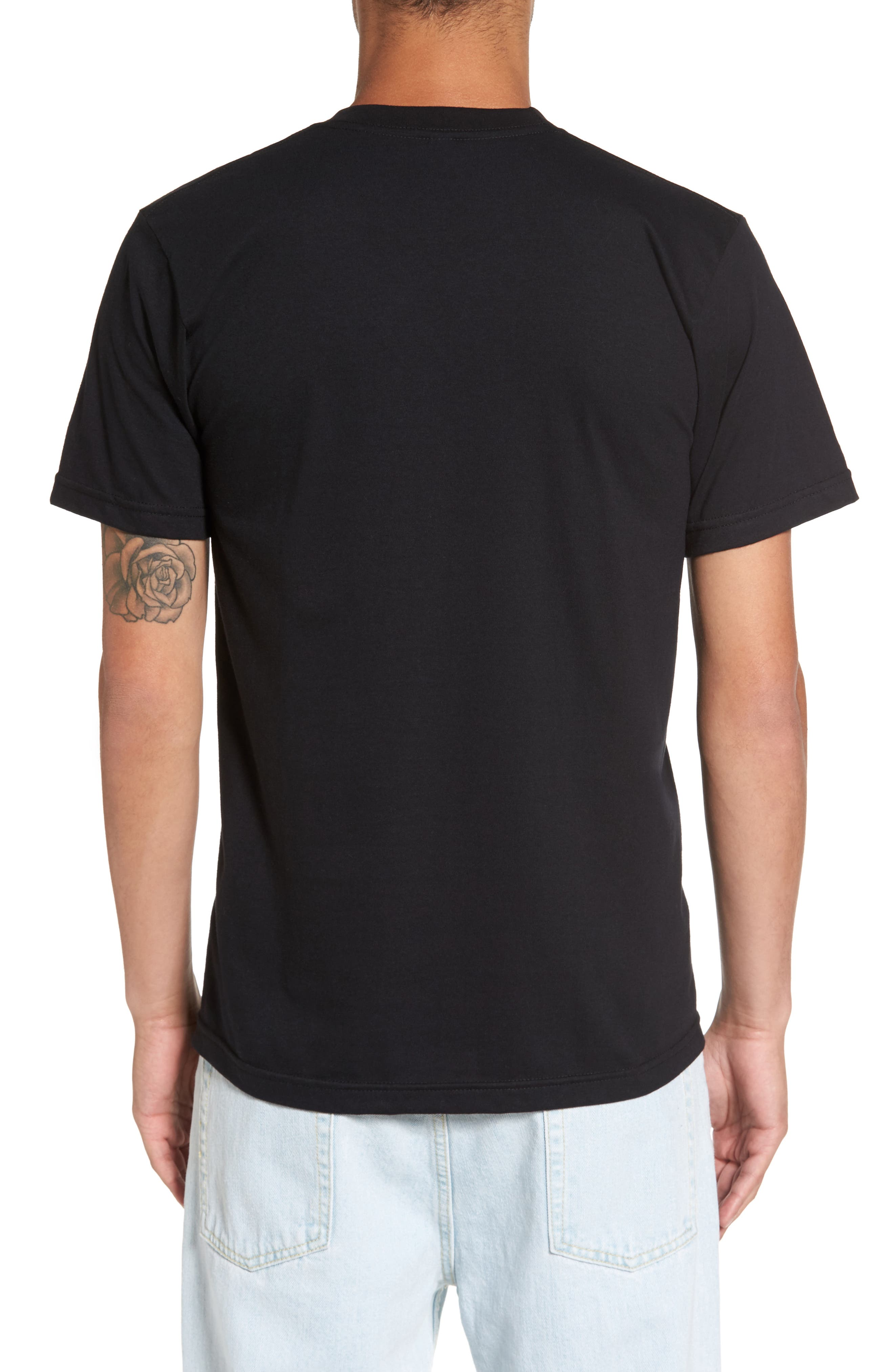 Johnny Tree Clouds T-Shirt,                             Alternate thumbnail 2, color,                             Black