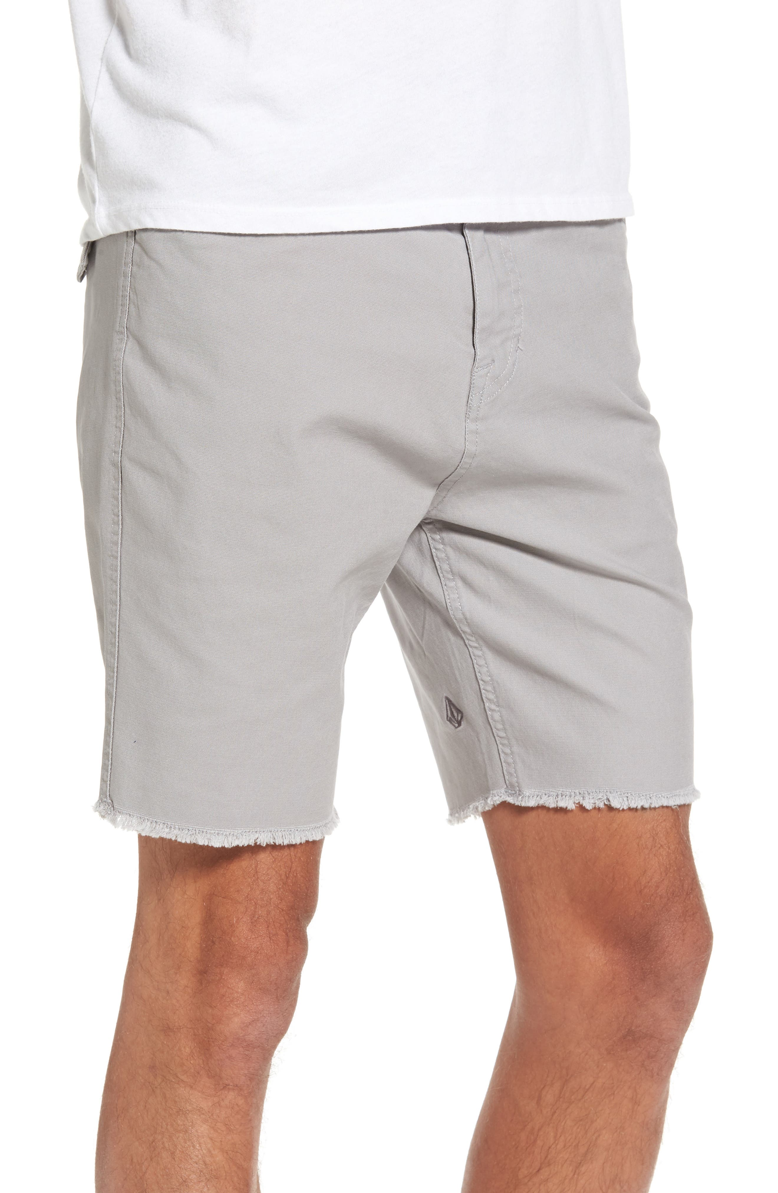 Stone Made Atwell Cutoff Shorts,                             Alternate thumbnail 3, color,                             Grey