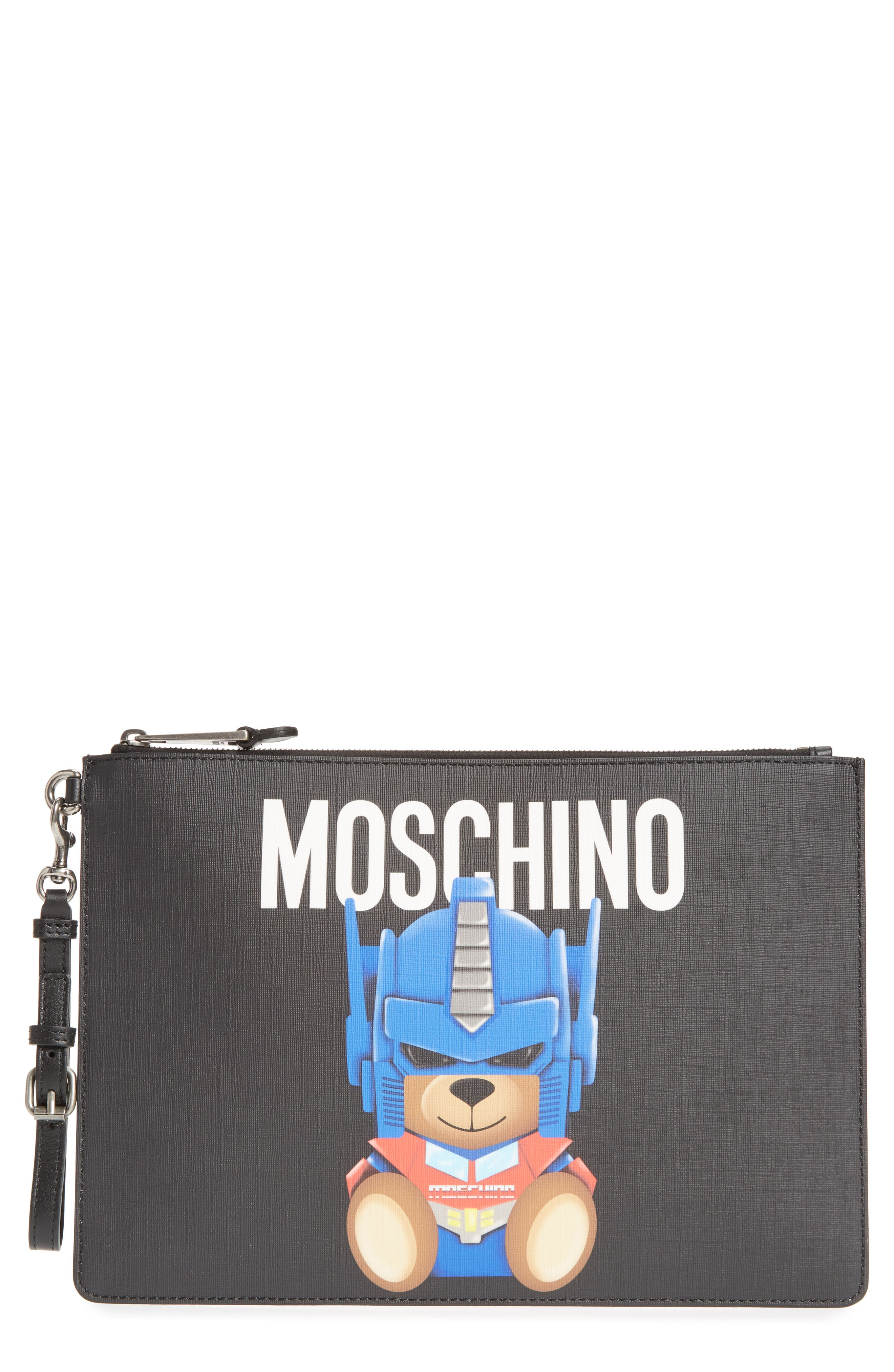 MOSCHINO Large Transformers Bear Pouch