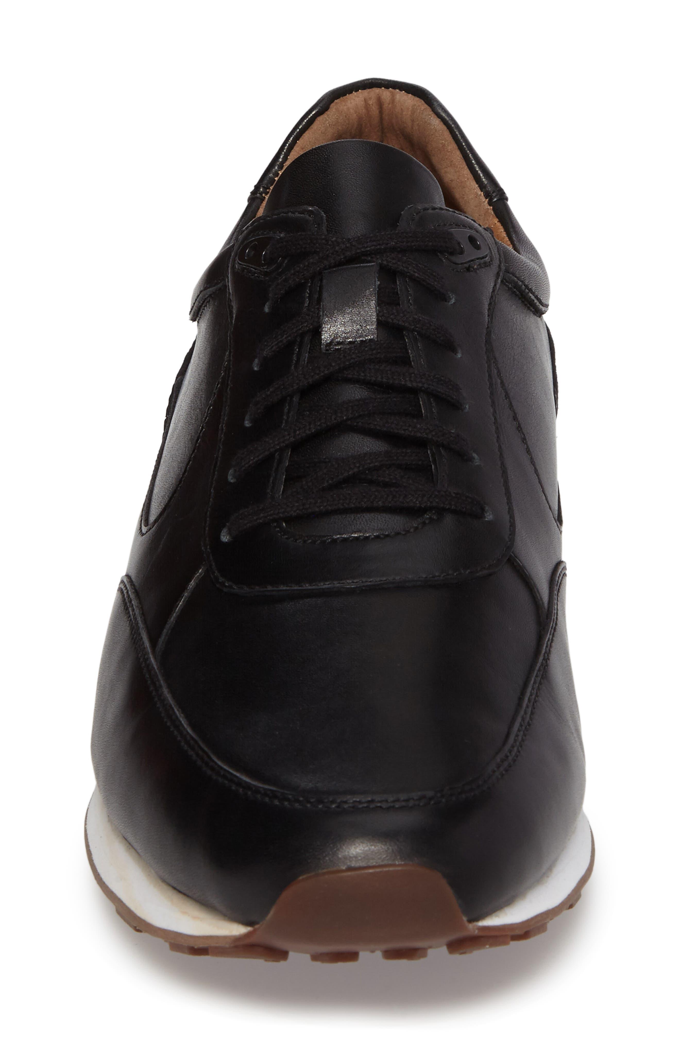 Malek Sneaker,                             Alternate thumbnail 4, color,                             Black Leather