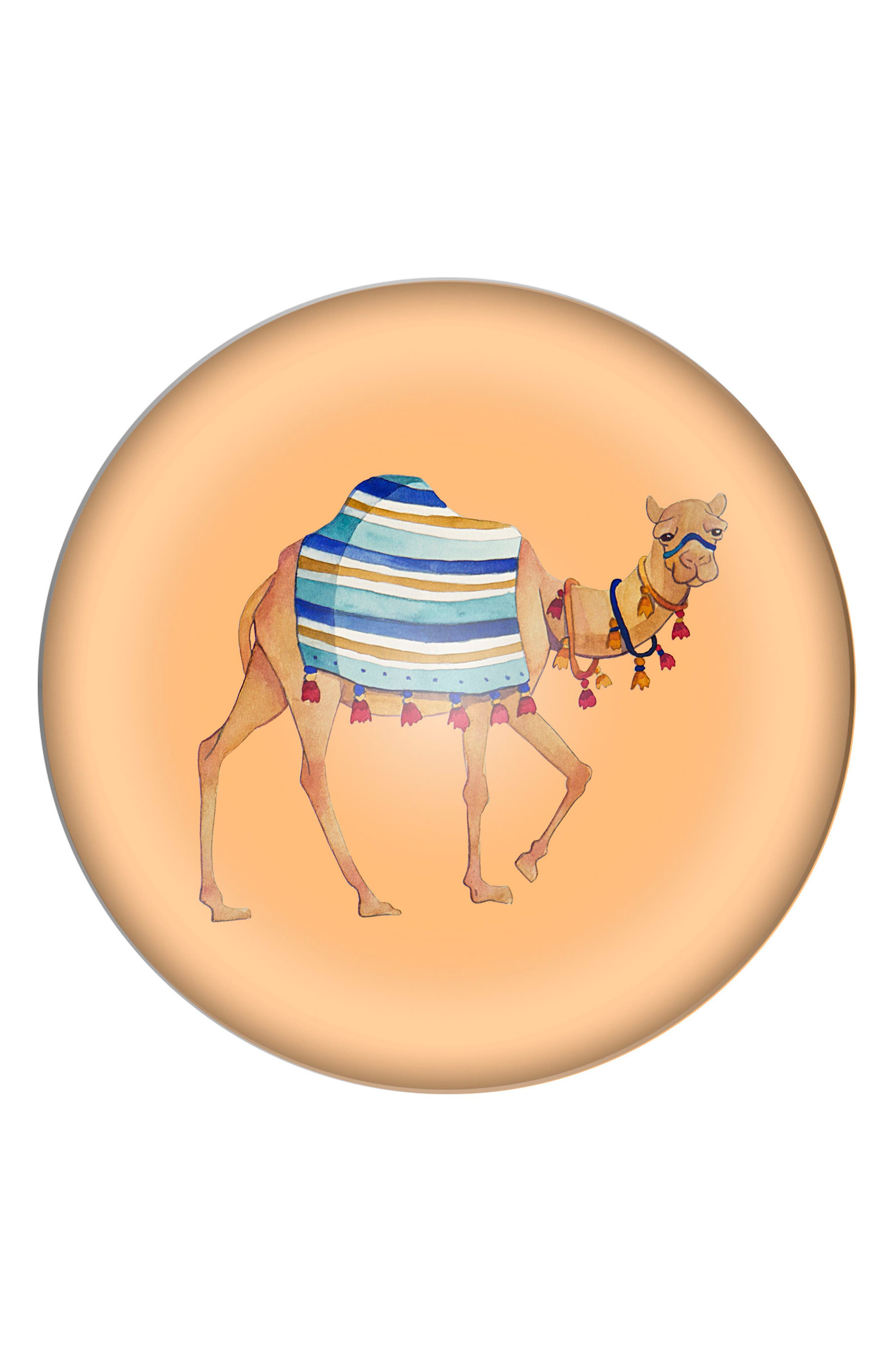 Camel Domed Glass Paperweight,                         Main,                         color, Multi