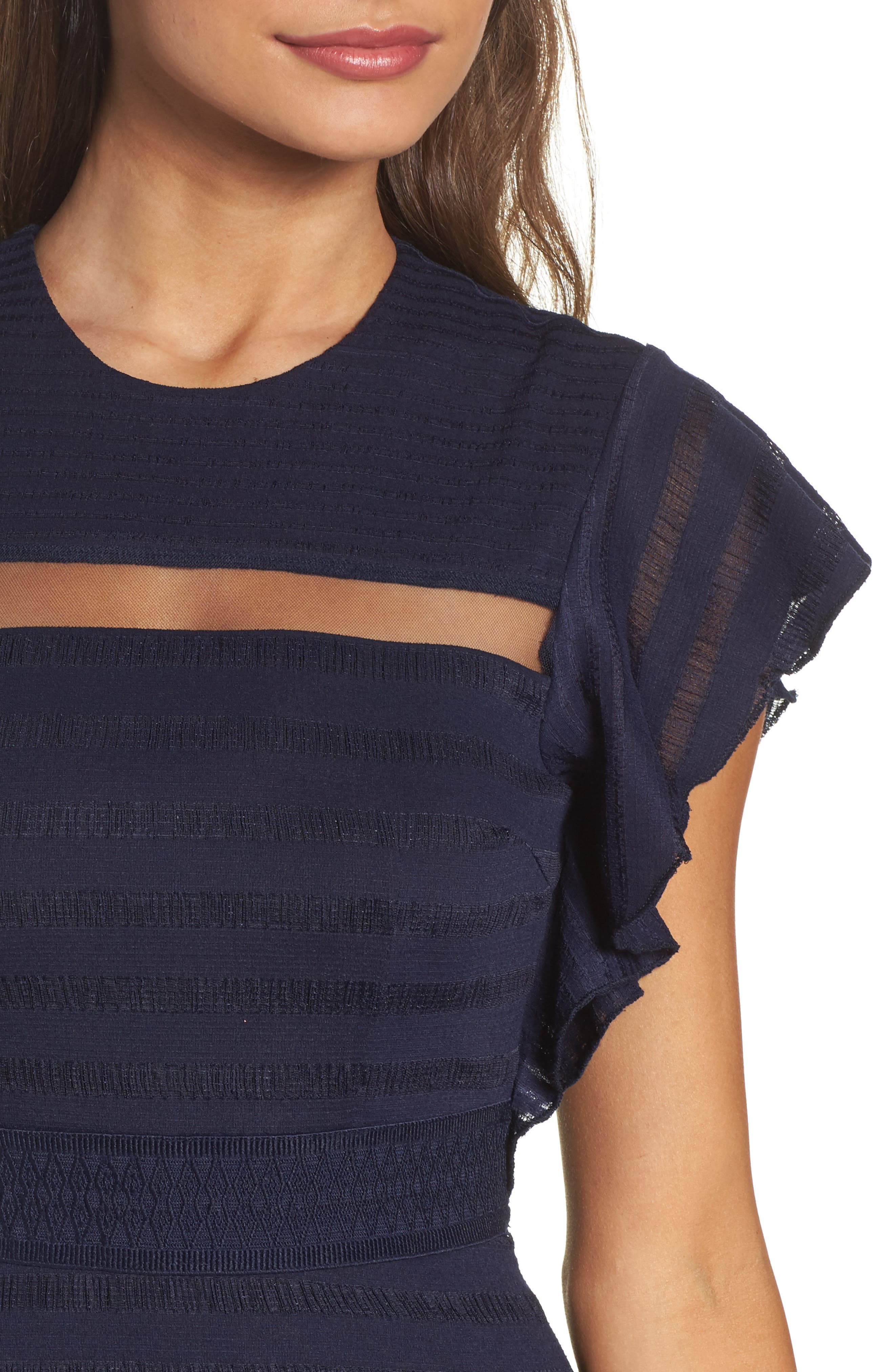 Alternate Image 4  - Foxiedox Elsie Ruffle Sleeve Fit & Flare Dress