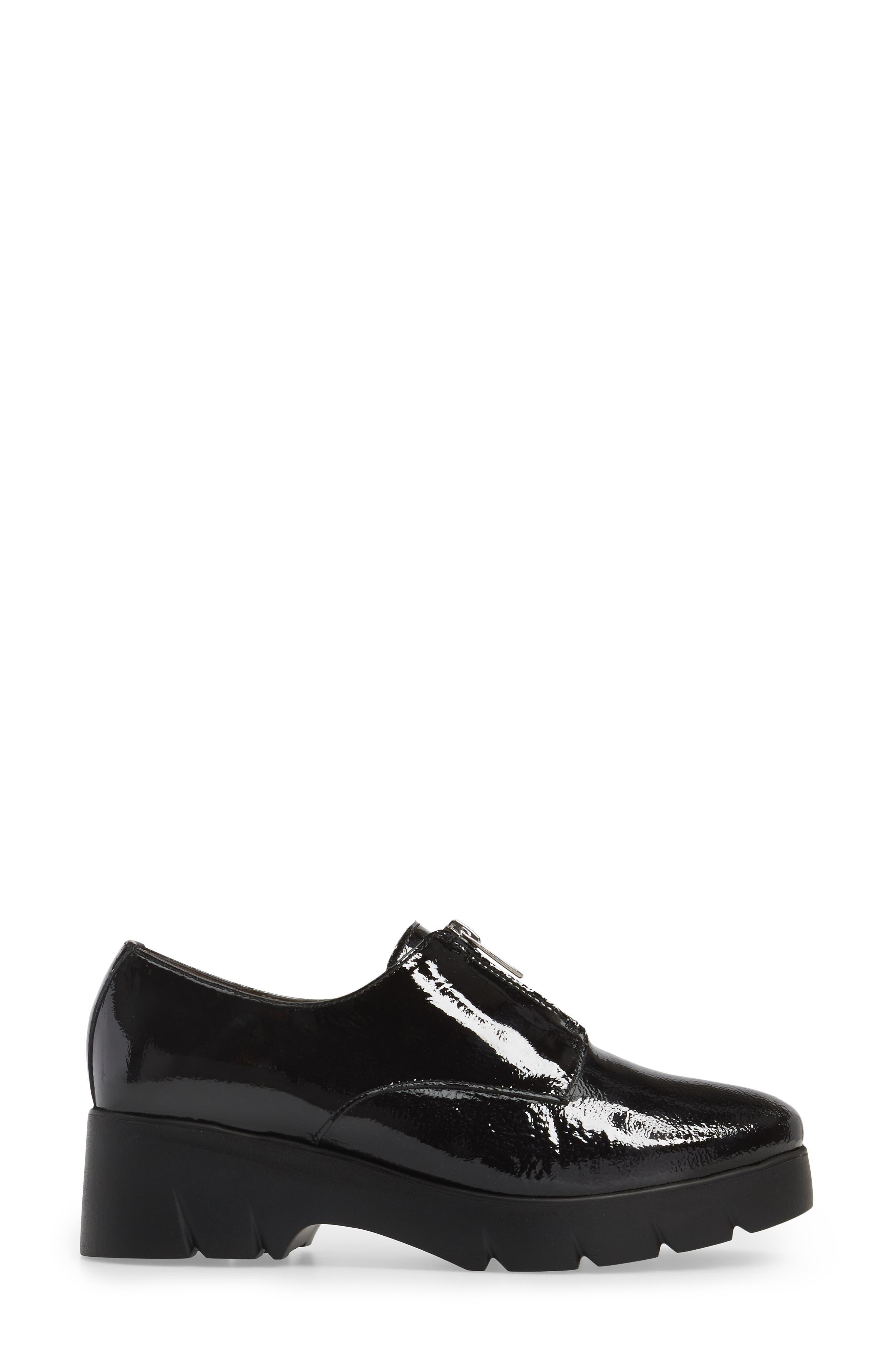 Platform Derby,                             Alternate thumbnail 3, color,                             Black Patent Leather