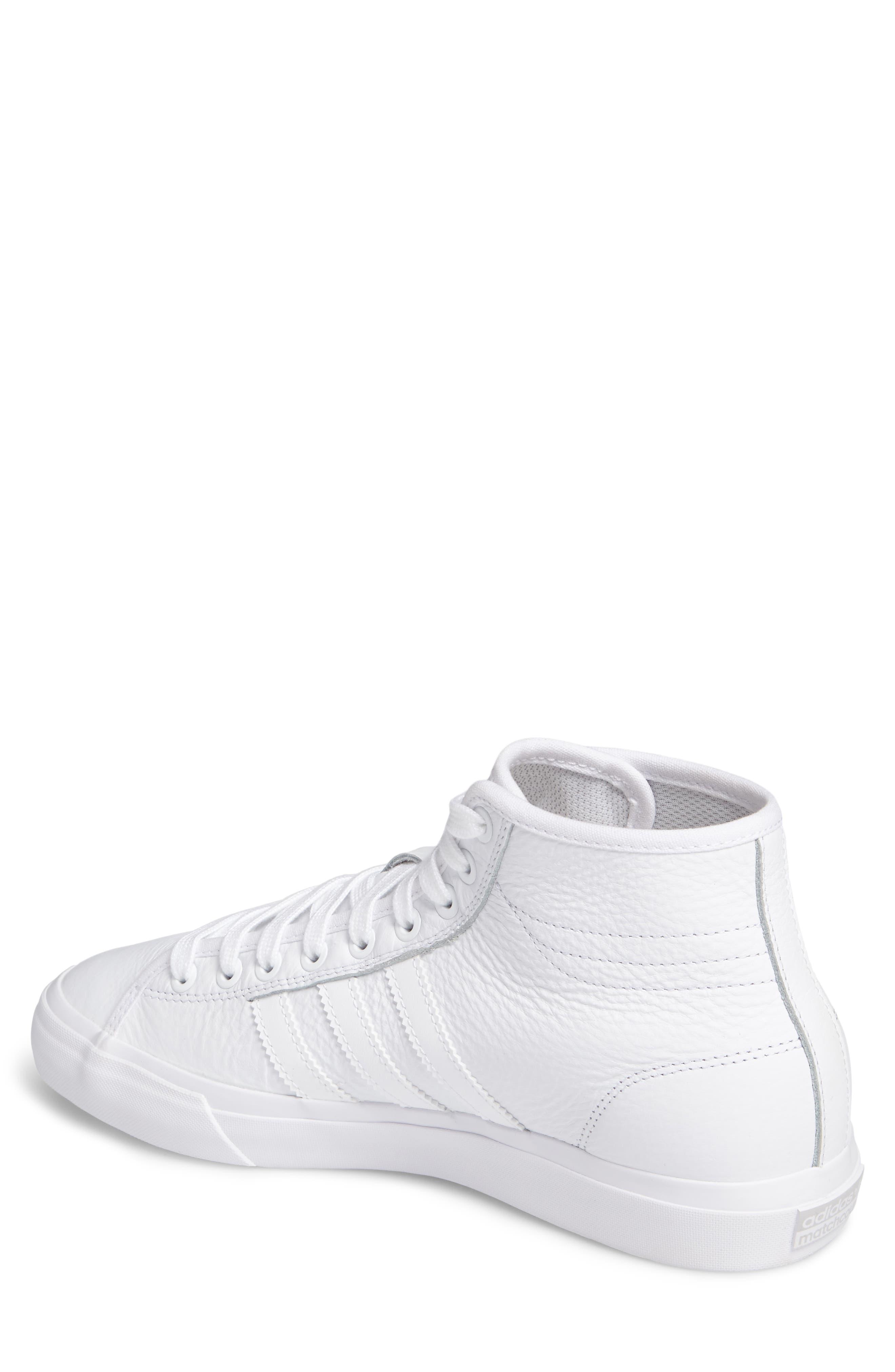 Matchcourt High Top Sneaker,                             Alternate thumbnail 2, color,                             White/ White/ White