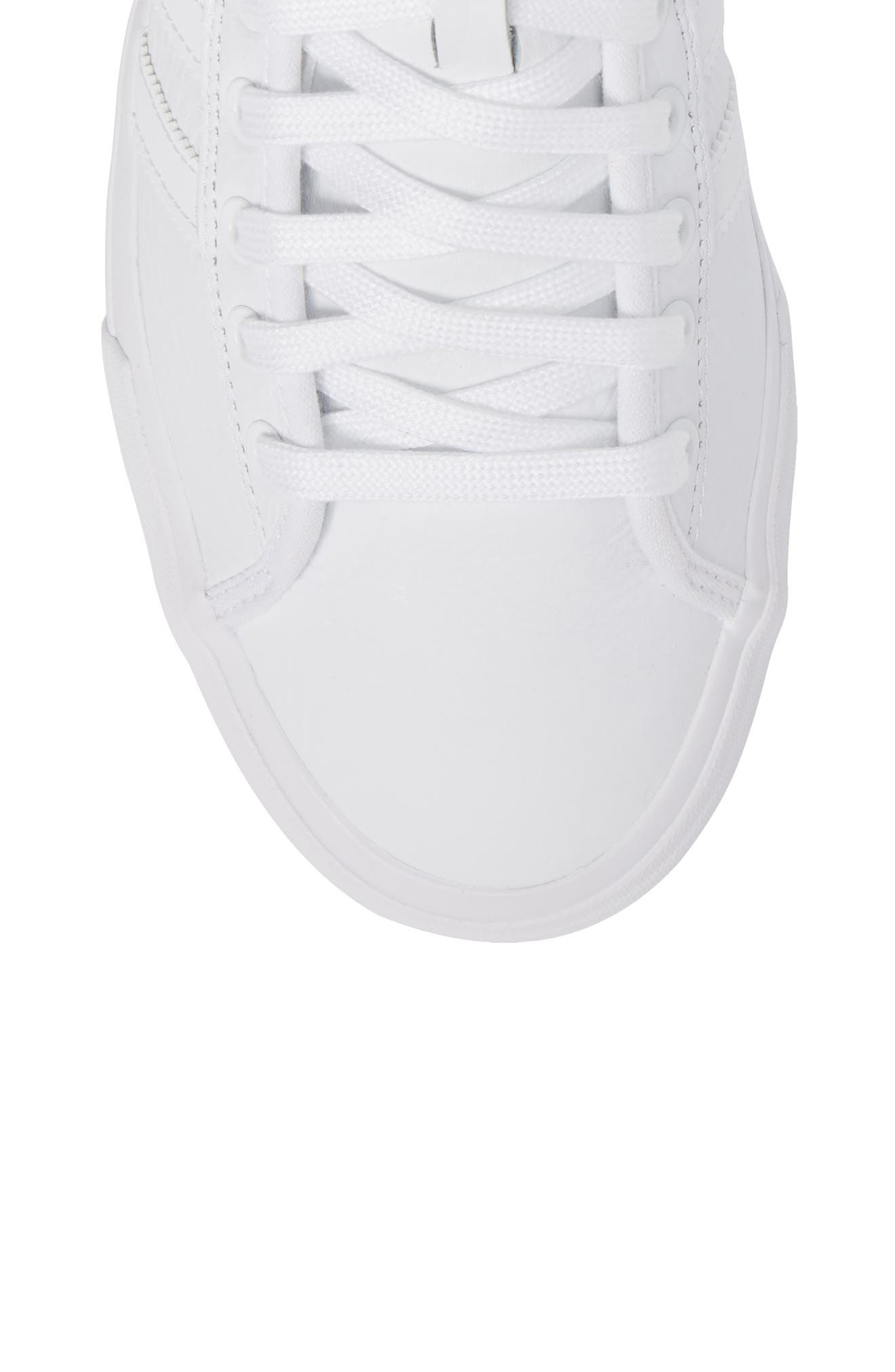 Matchcourt High Top Sneaker,                             Alternate thumbnail 5, color,                             White/ White/ White