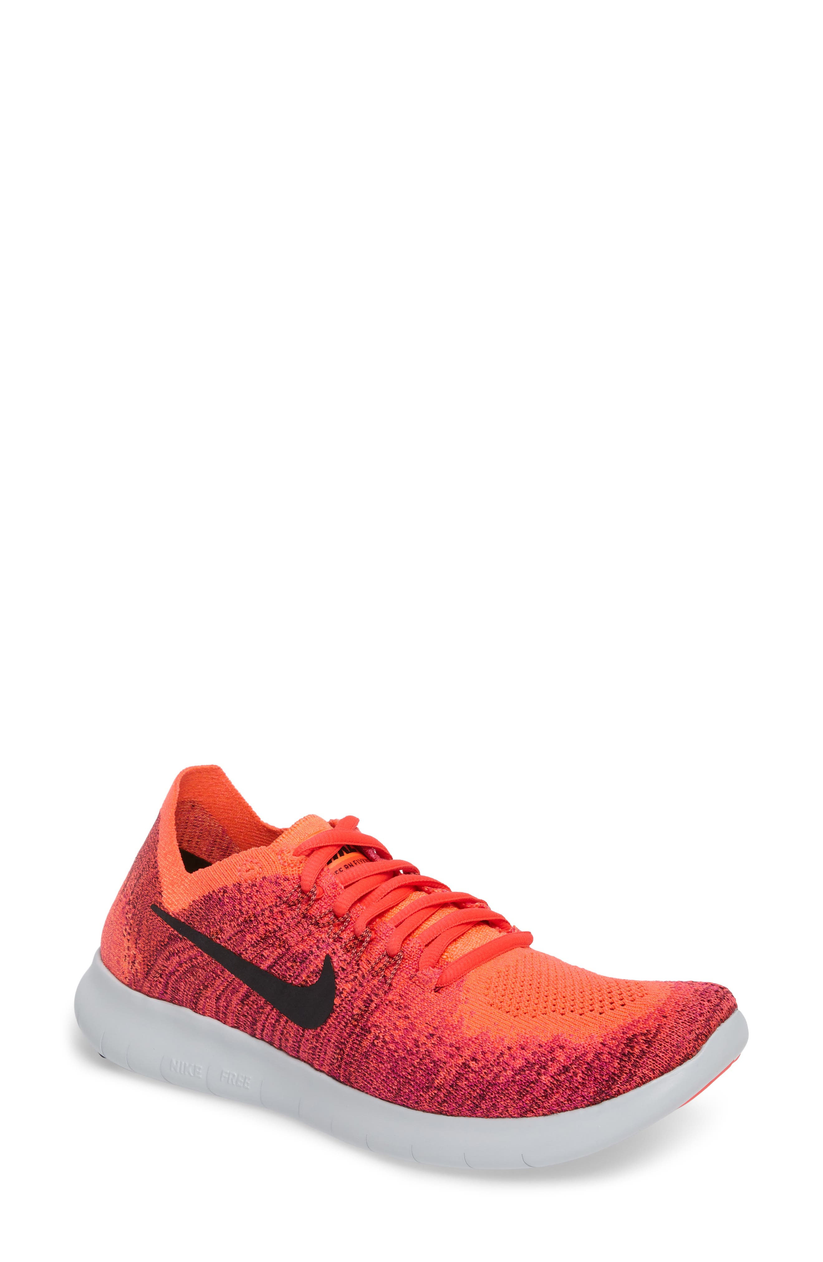 nike libero flyknit 2 scarpa da corsa, rosso / nero / mango / rosa modesens