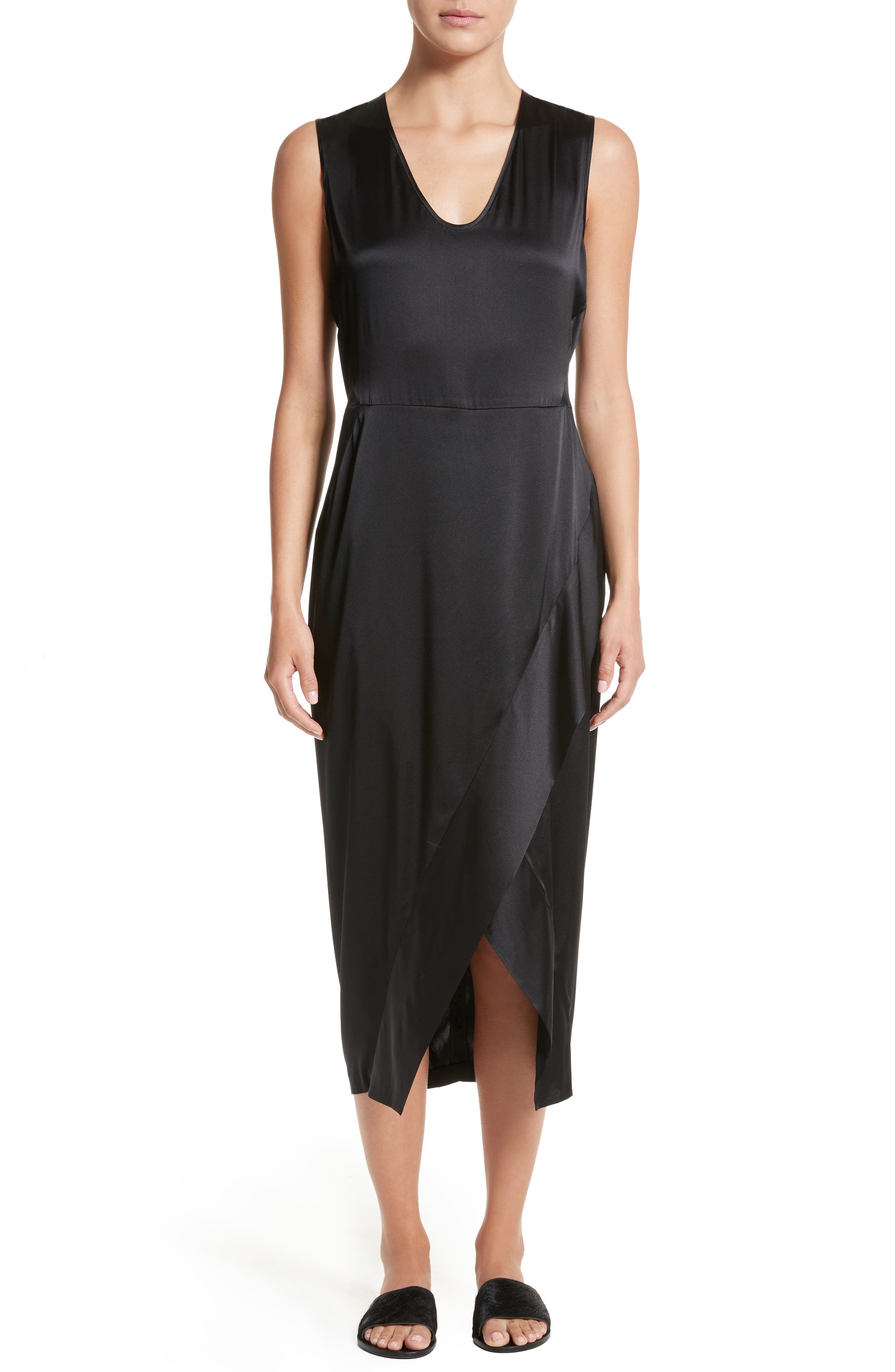 Main Image - Zero + Maria Cornejo Mylla Stretch Silk Charmeuse Dress