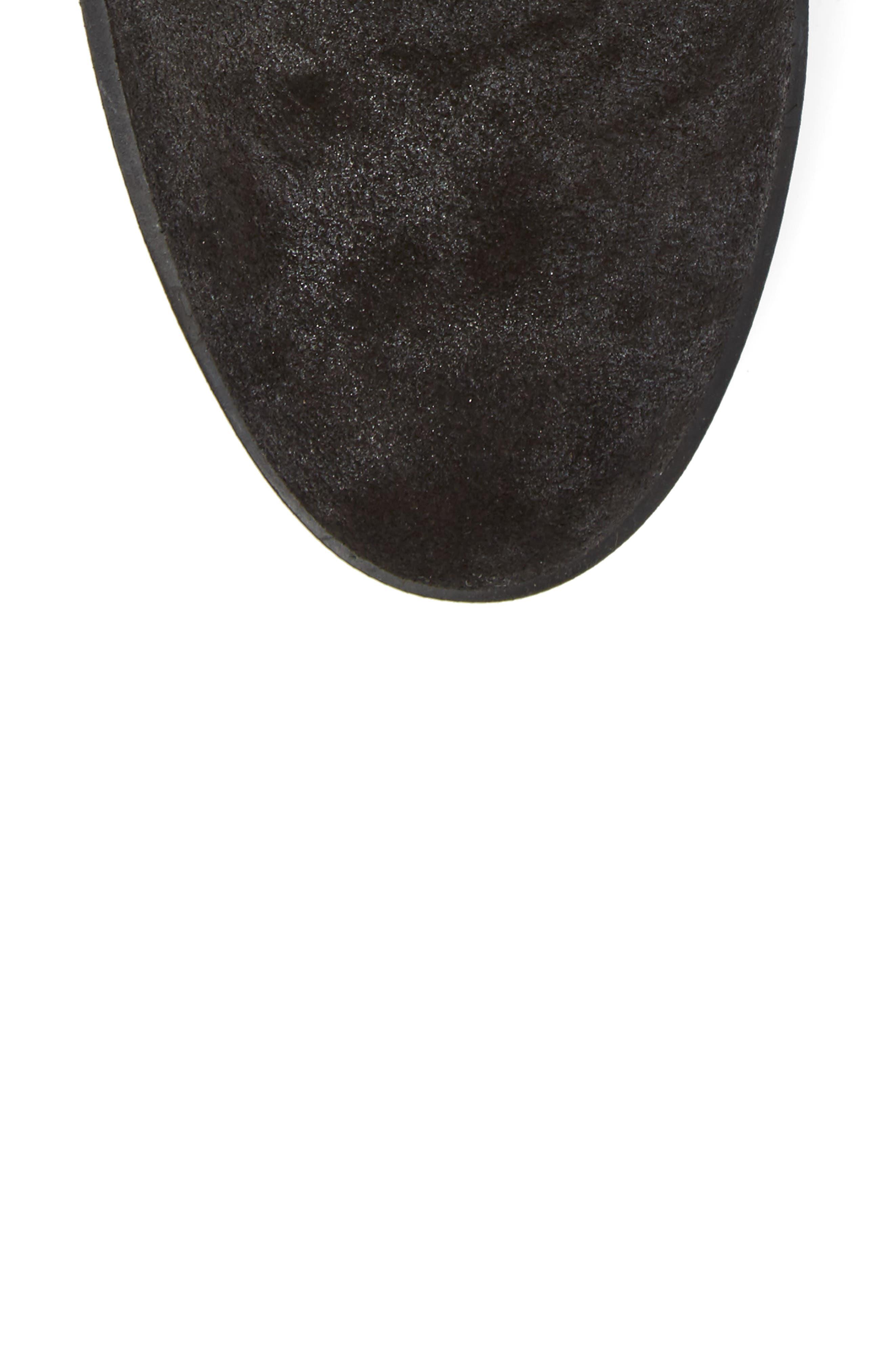 Dasia Bow Bootie,                             Alternate thumbnail 5, color,                             Brut Black Leather