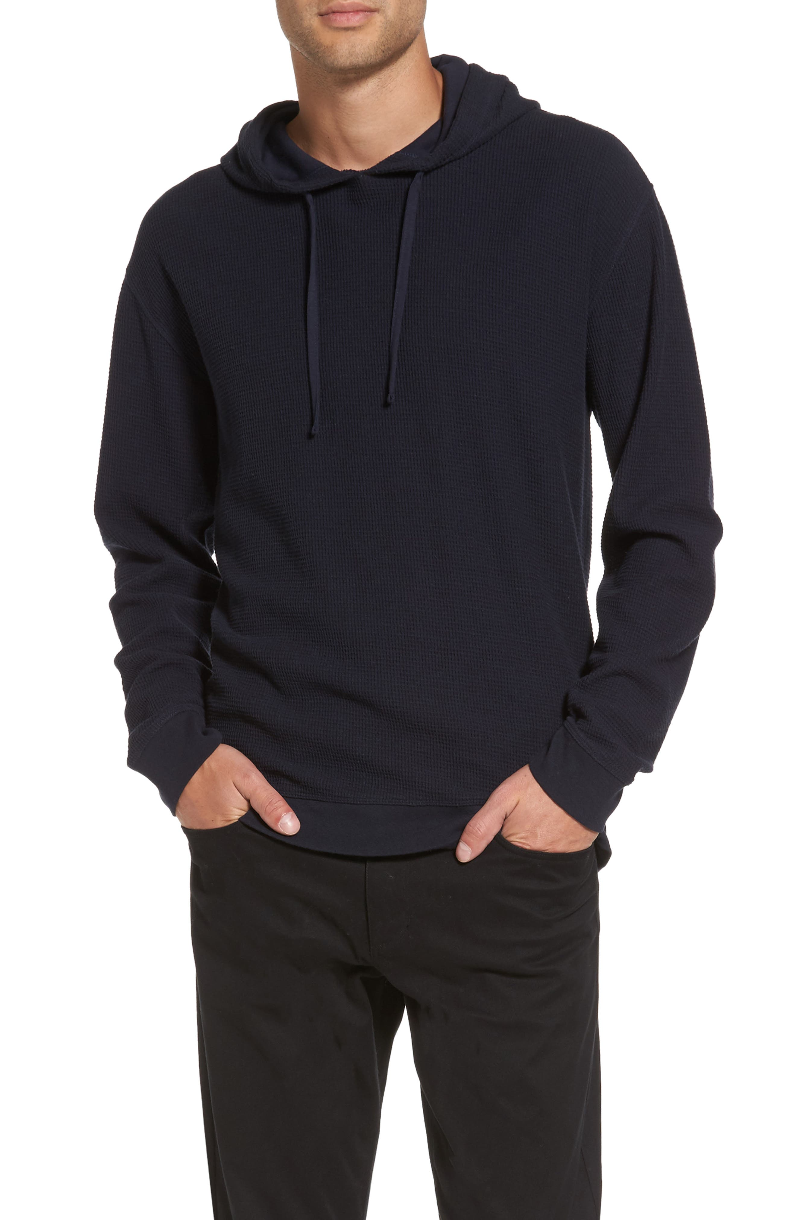 Vince Waffle Knit Pullover Hoodie