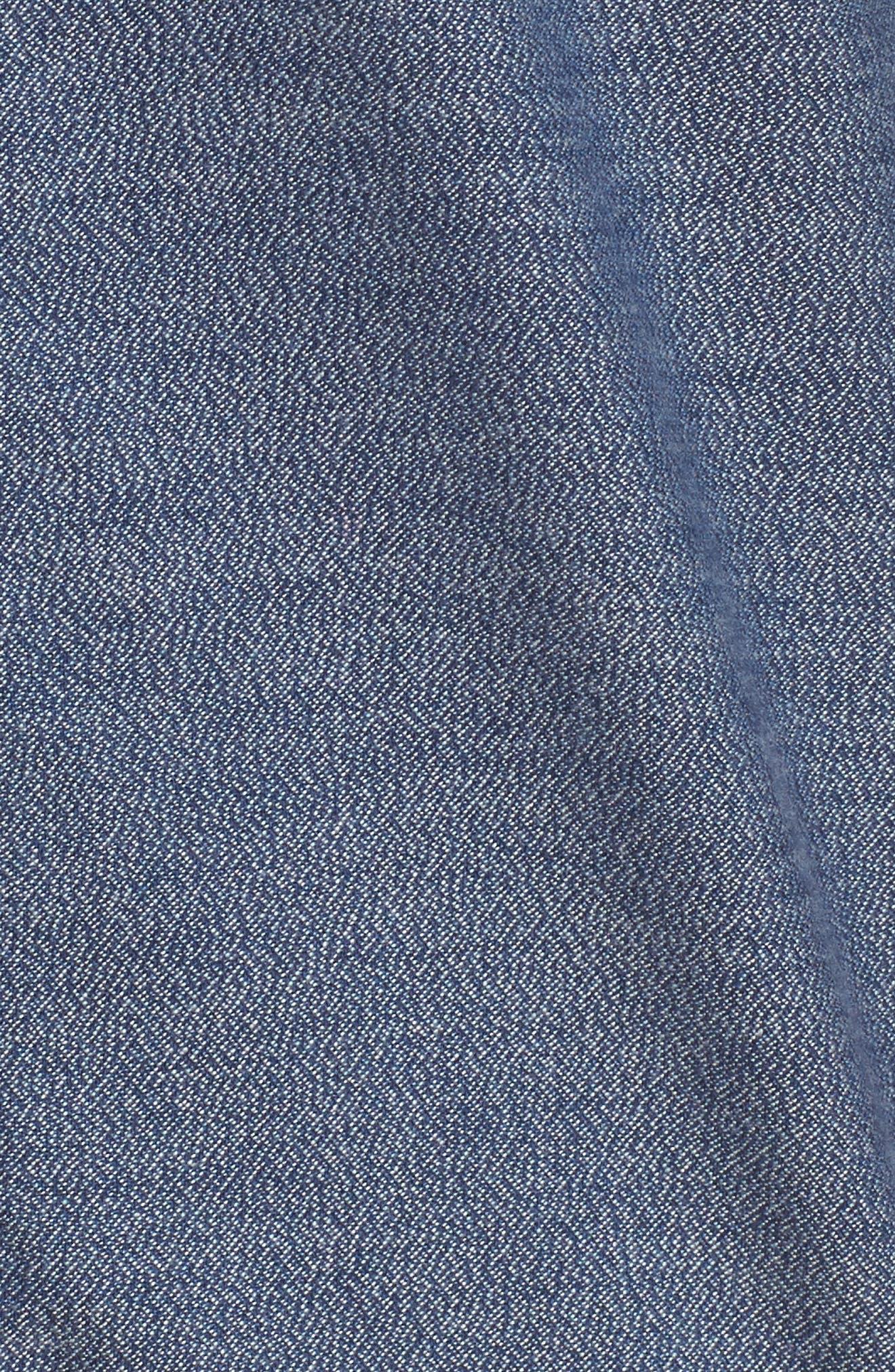 Alternate Image 5  - Nordstrom Men's Shop Slim Fit Jaspé Sport Shirt (Regular & Tall)