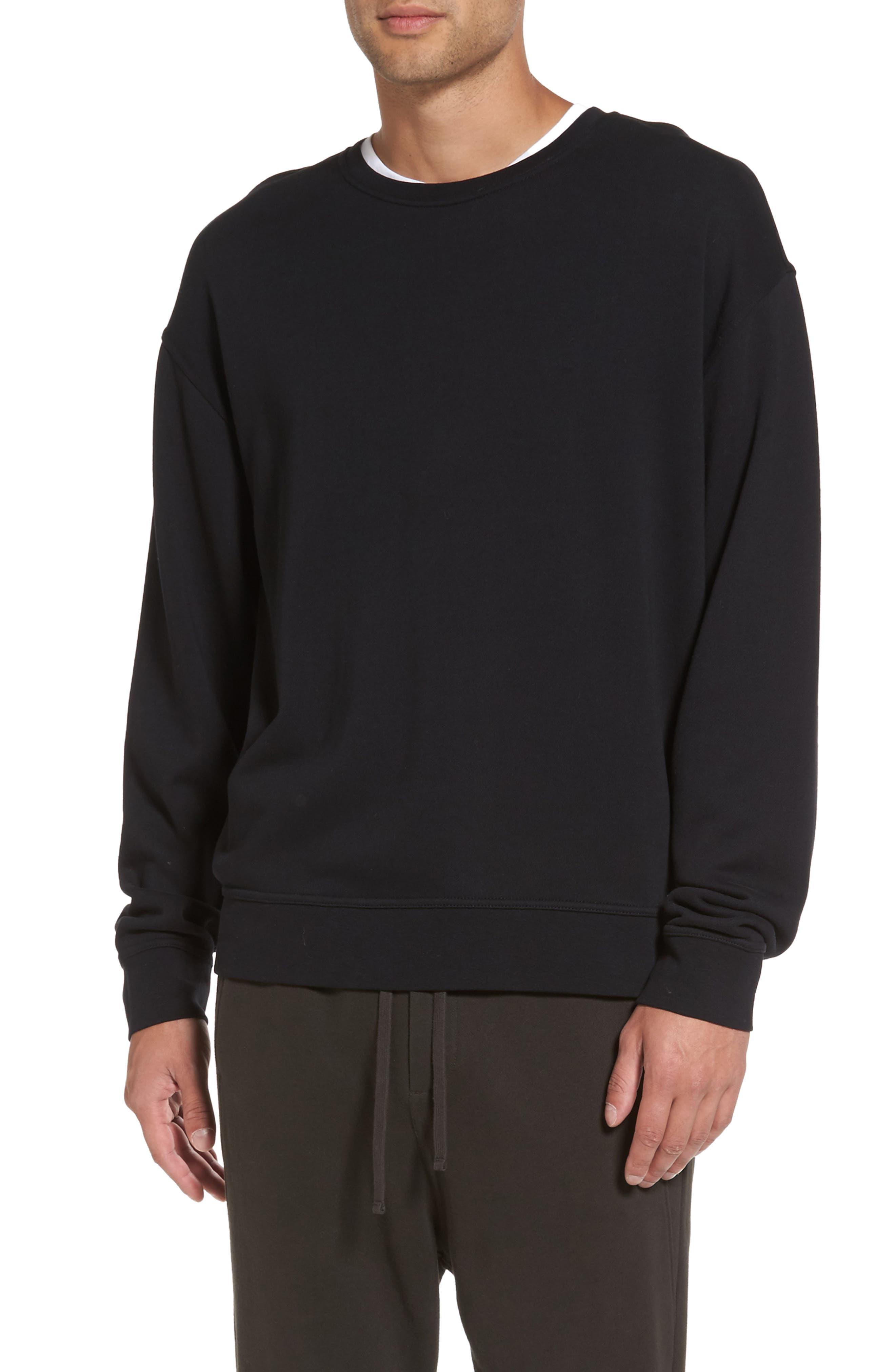 Crewneck Sweatshirt,                         Main,                         color, Black
