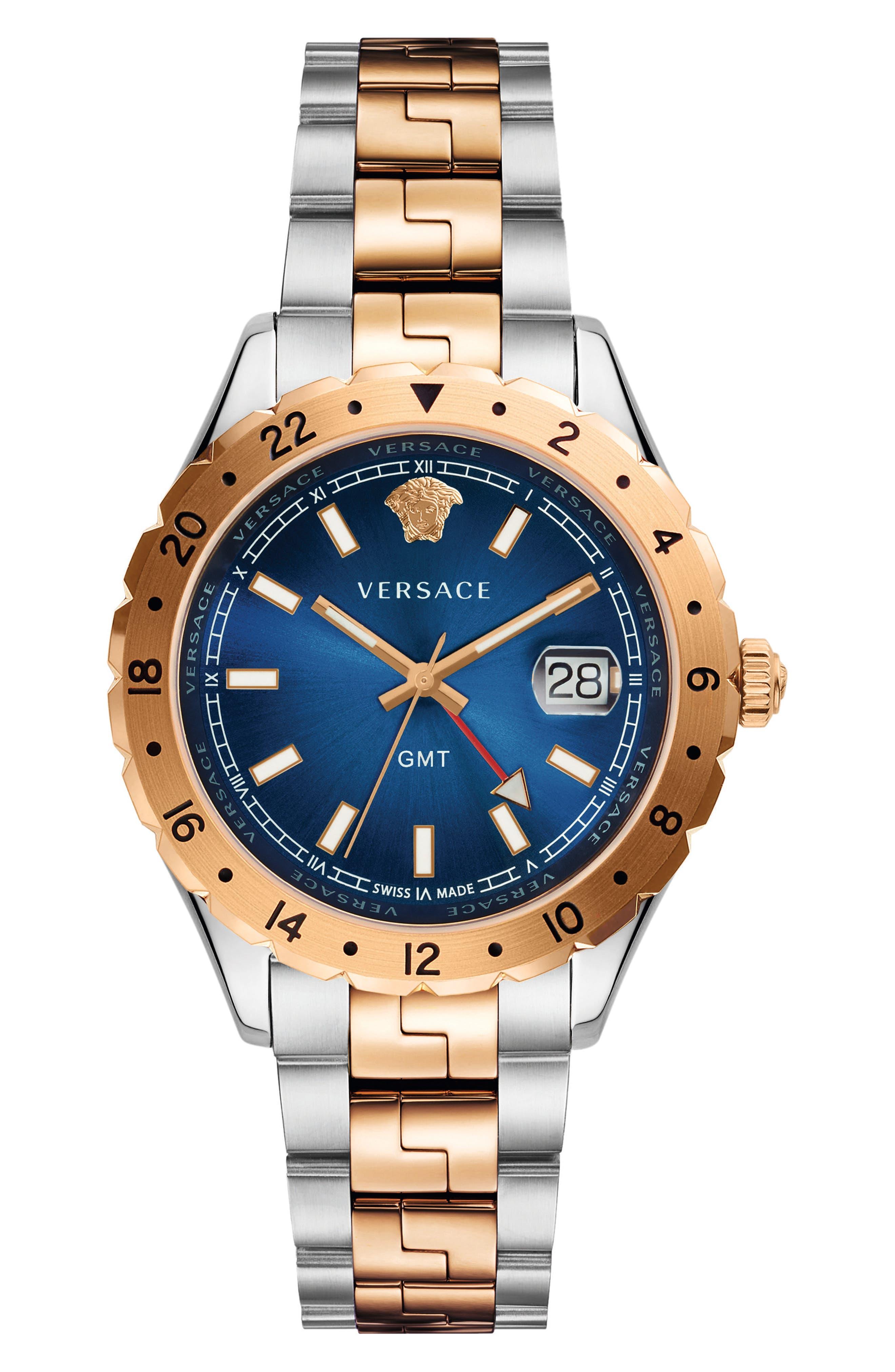 Versace Hellenyium GMT Bracelet Watch, 42mm