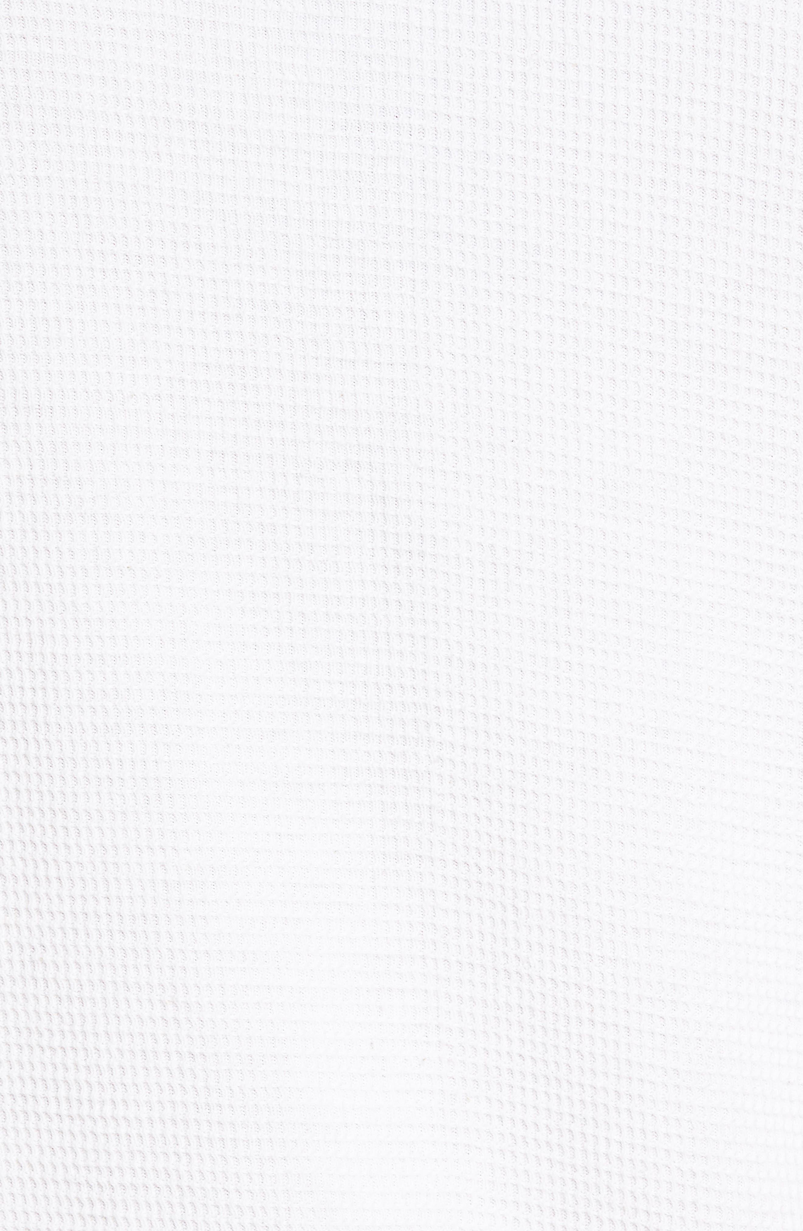 Waffle Knit Sweatshirt,                             Alternate thumbnail 6, color,                             White
