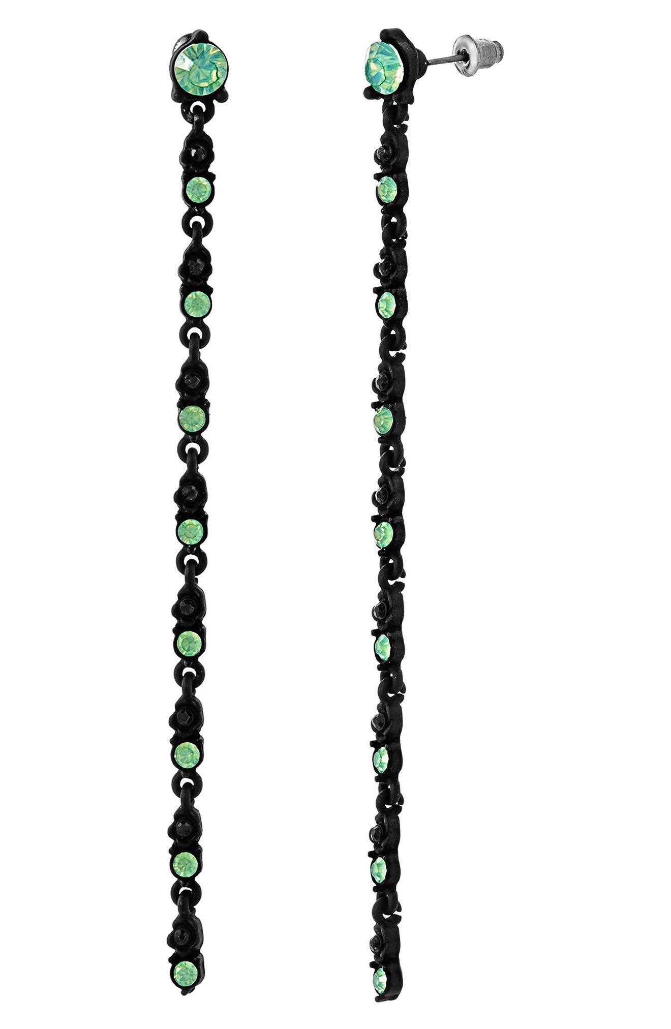Alternate Image 1 Selected - Steve Madden Crystal Linear Drop Earrings