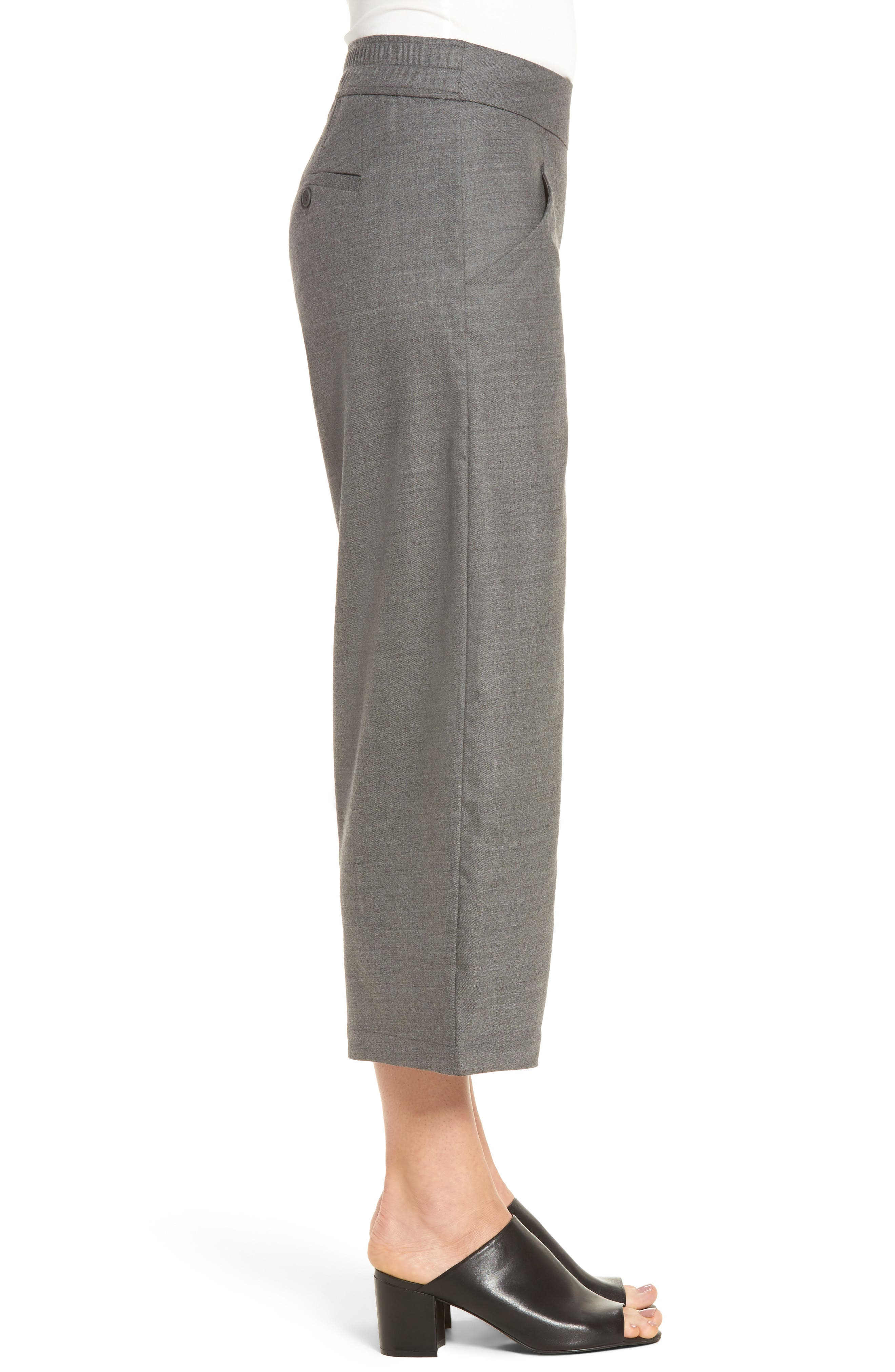 Alternate Image 3  - Eileen Fisher Crop Stretch Wool Ankle Pants