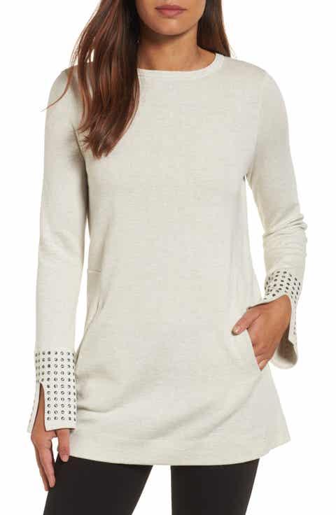 Women's NIC ZOE Beige Tunic Sweaters | Nordstrom