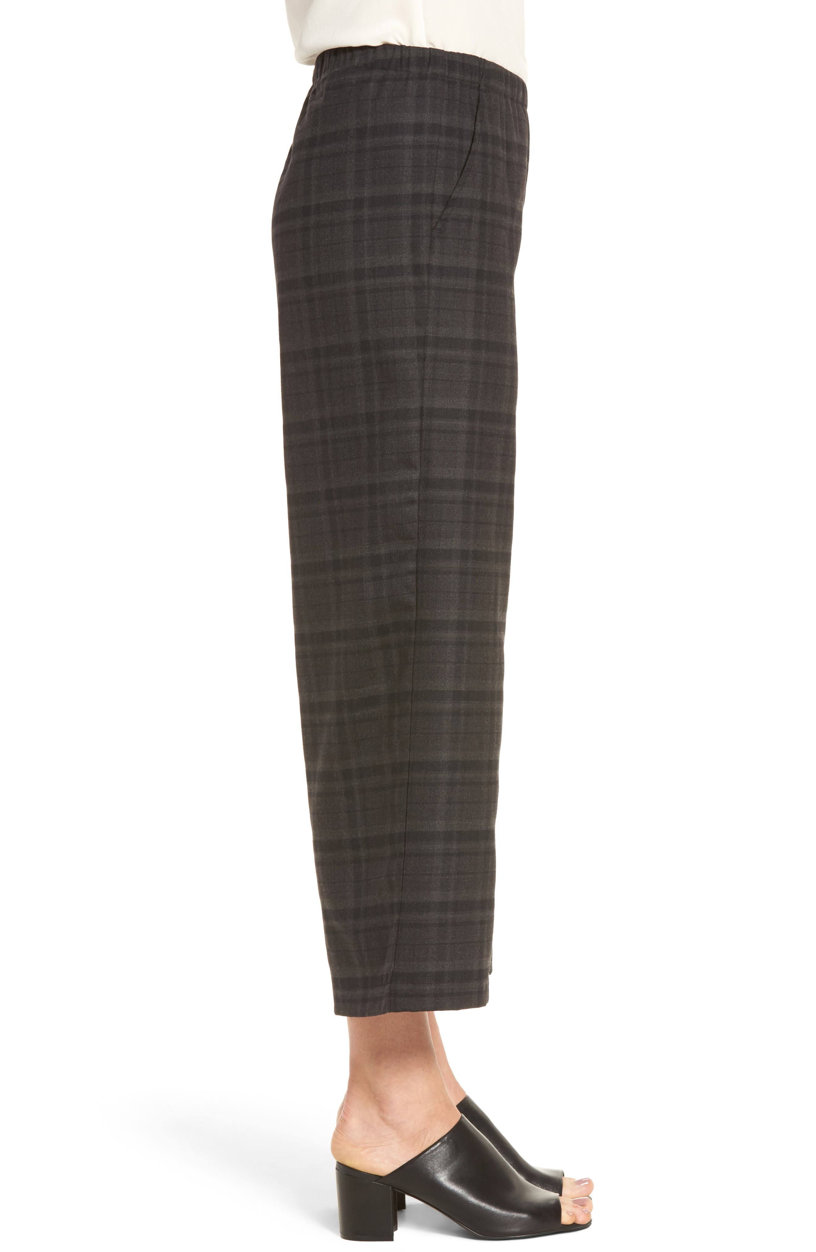 Alternate Image 3  - Eileen Fisher Wide Leg Plaid Crop Pants