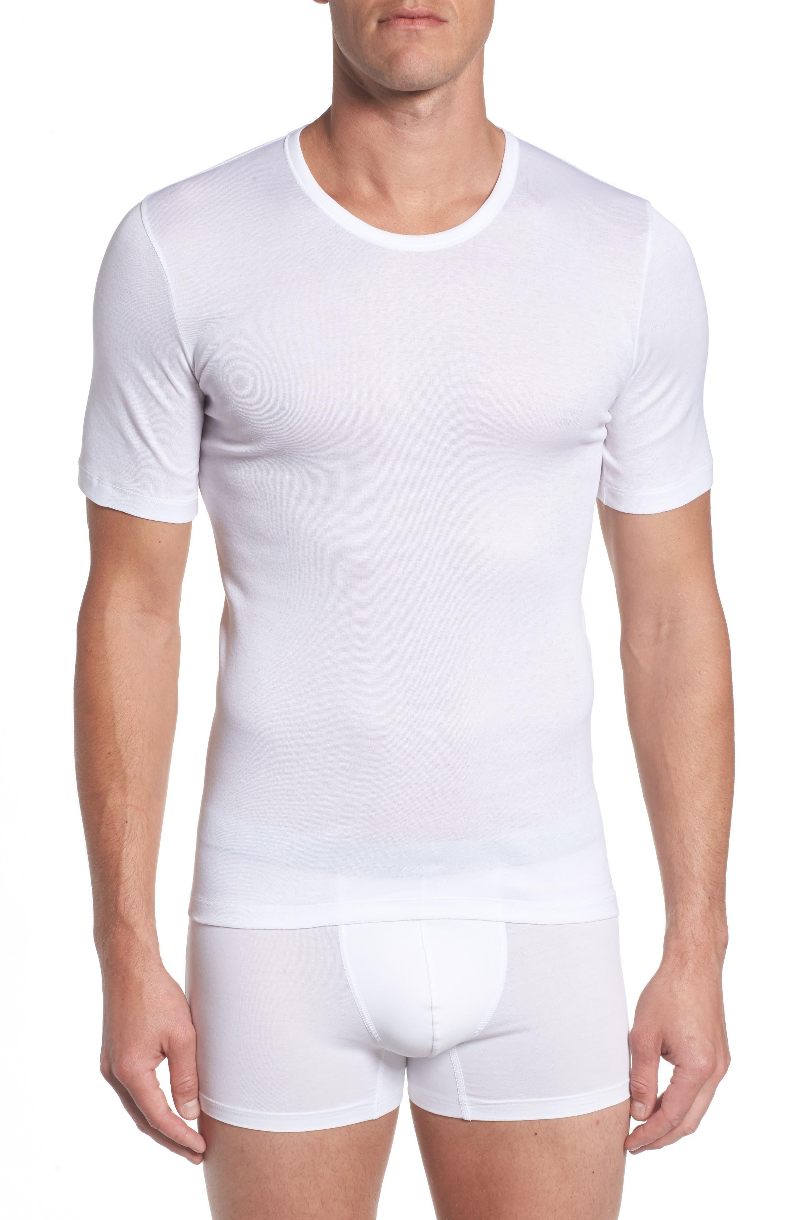 Cotton Pure Crewneck T-Shirt,                             Main thumbnail 1, color,                             White