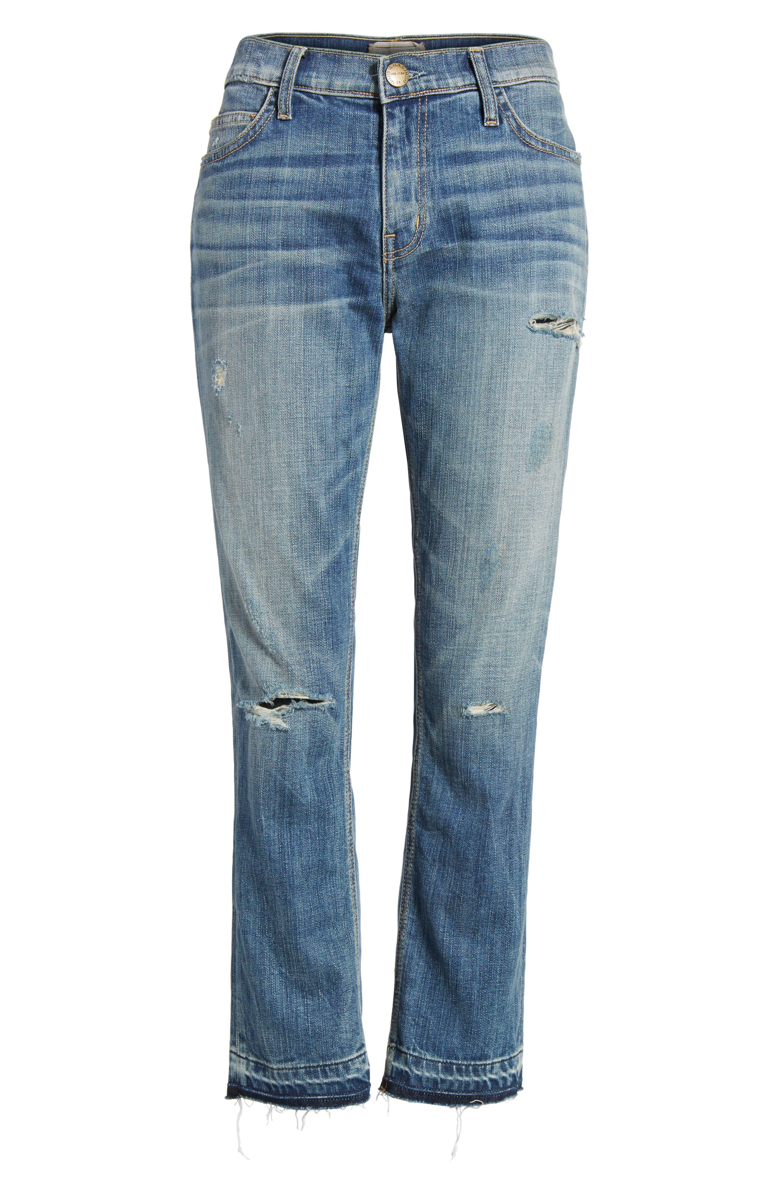 Alternate Image 6  - Current/Elliott The Cropped Straight Released Hem Jeans