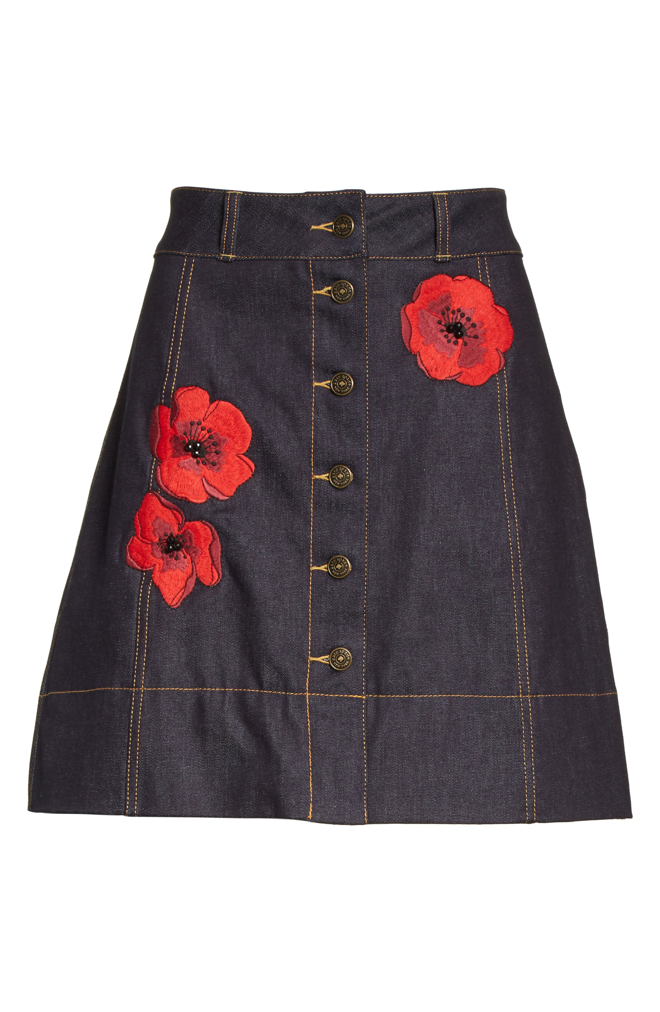 Alternate Image 7  - kate spade new york poppy denim skirt