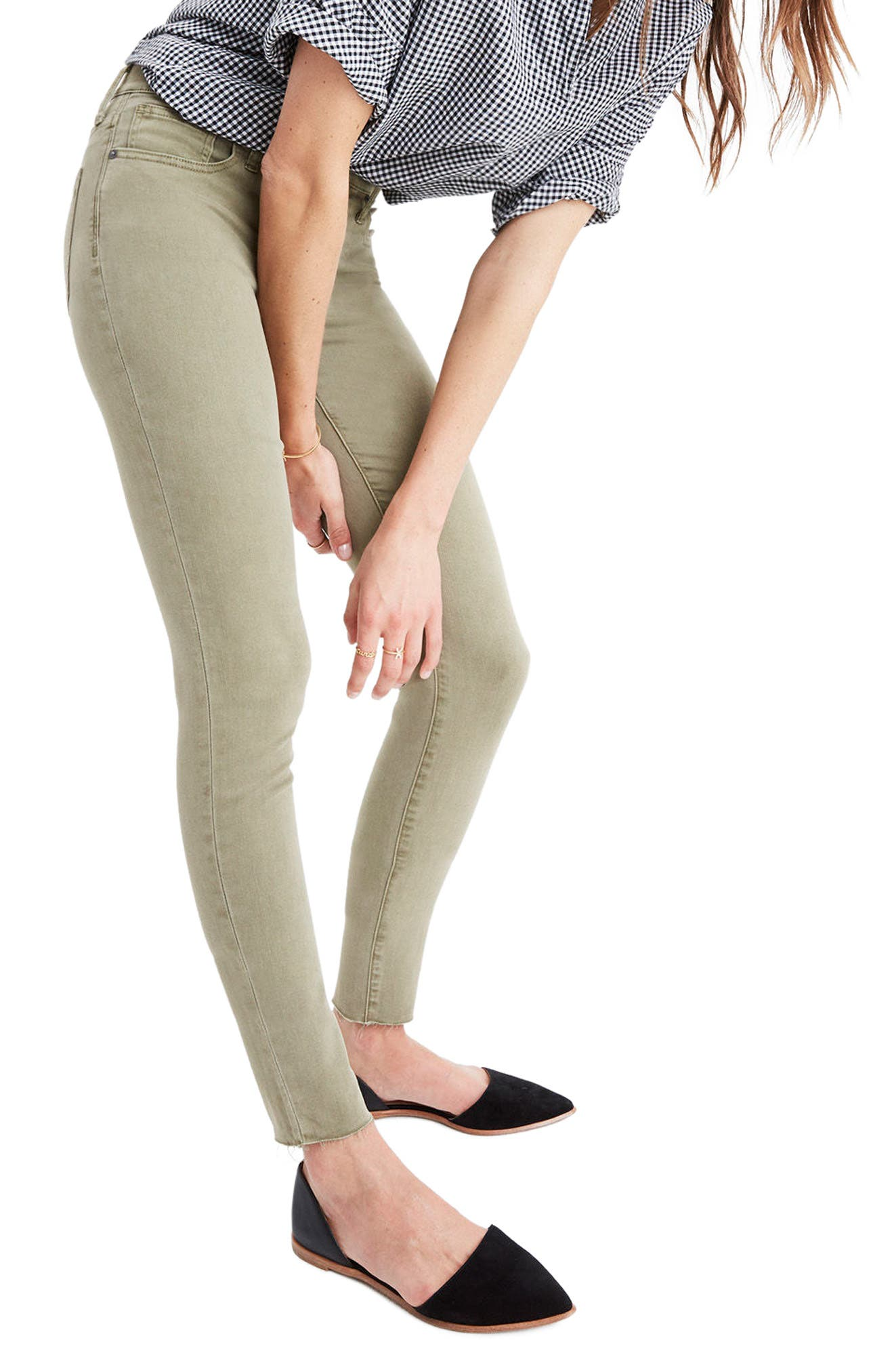 Main Image - Madewell 9-Inch High-Rise Skinny Jeans: Raw-Hem Garment-Dyed Edition