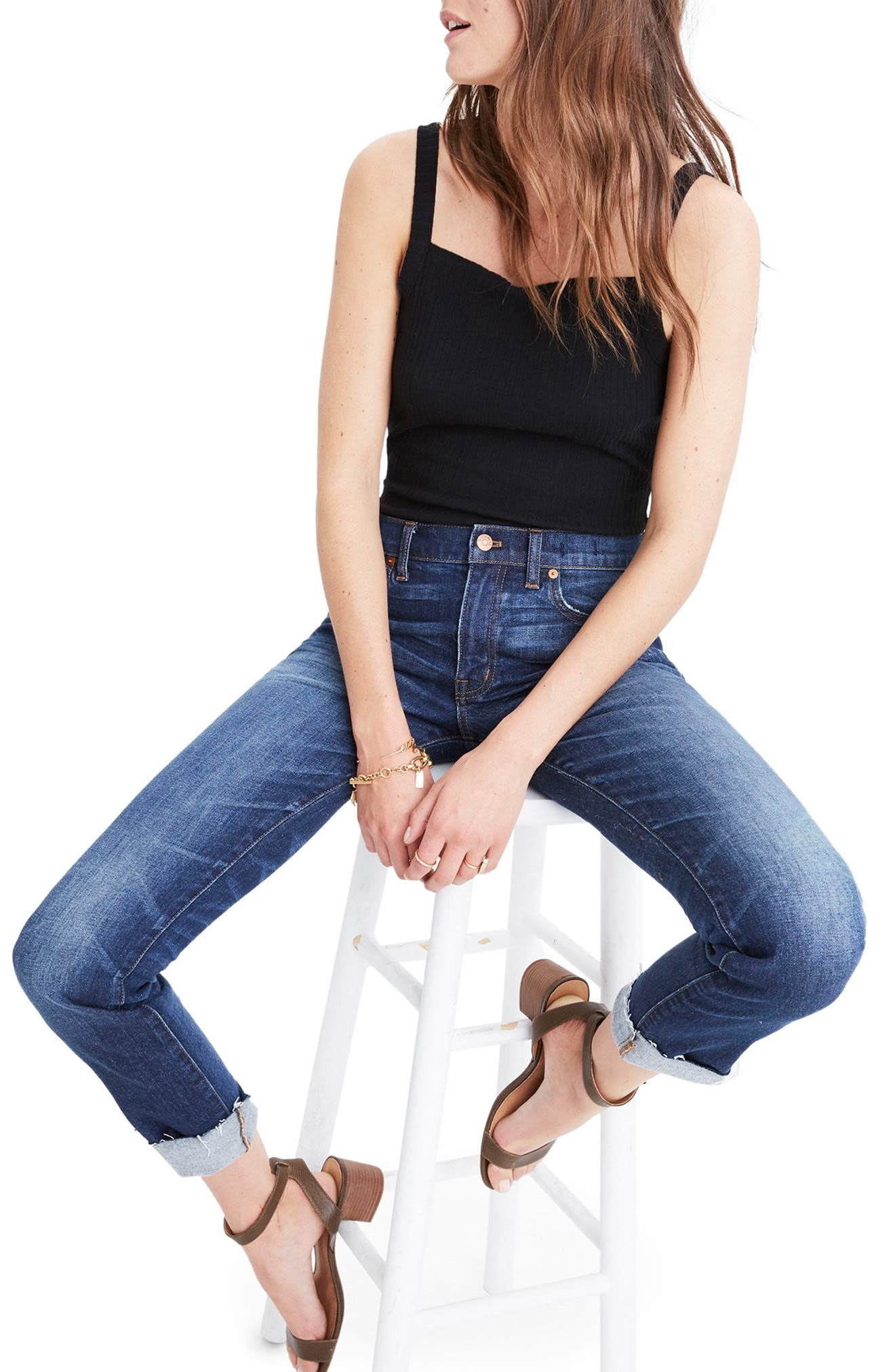 Main Image - Madewell Slim Boyfriend Jeans (Creston Wash)
