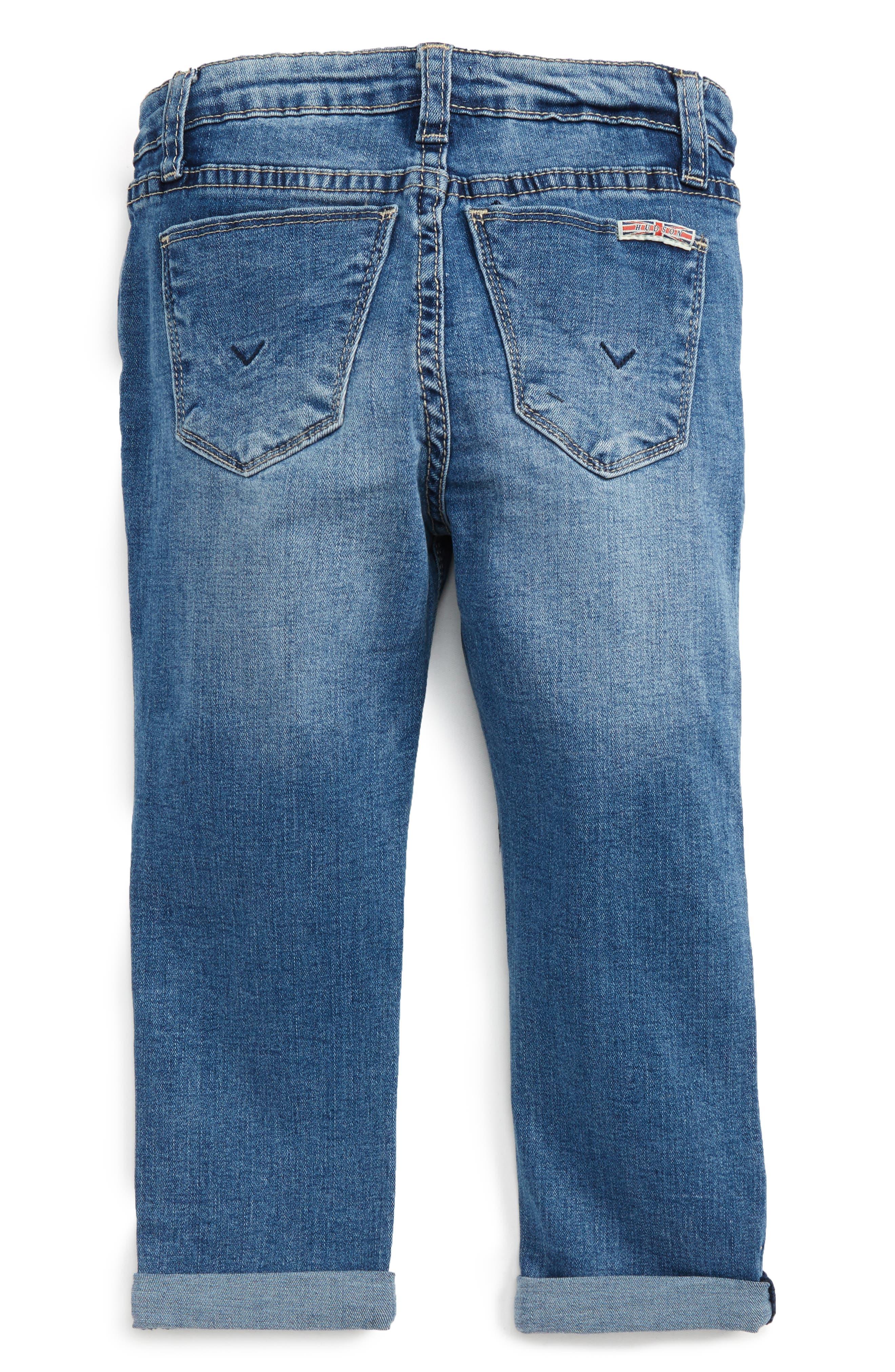 Rolled Crop Jeans,                             Alternate thumbnail 2, color,                             Light Indigo