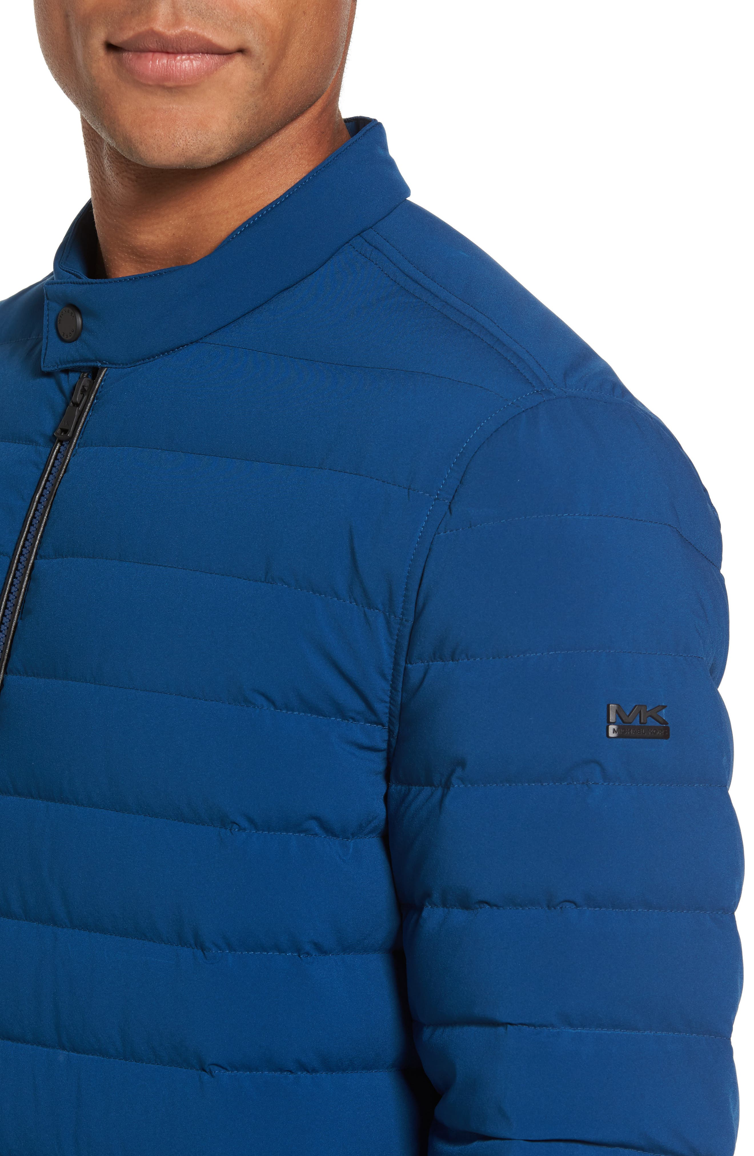 Packable Stretch Down Jacket,                             Alternate thumbnail 4, color,                             Pacific Blue