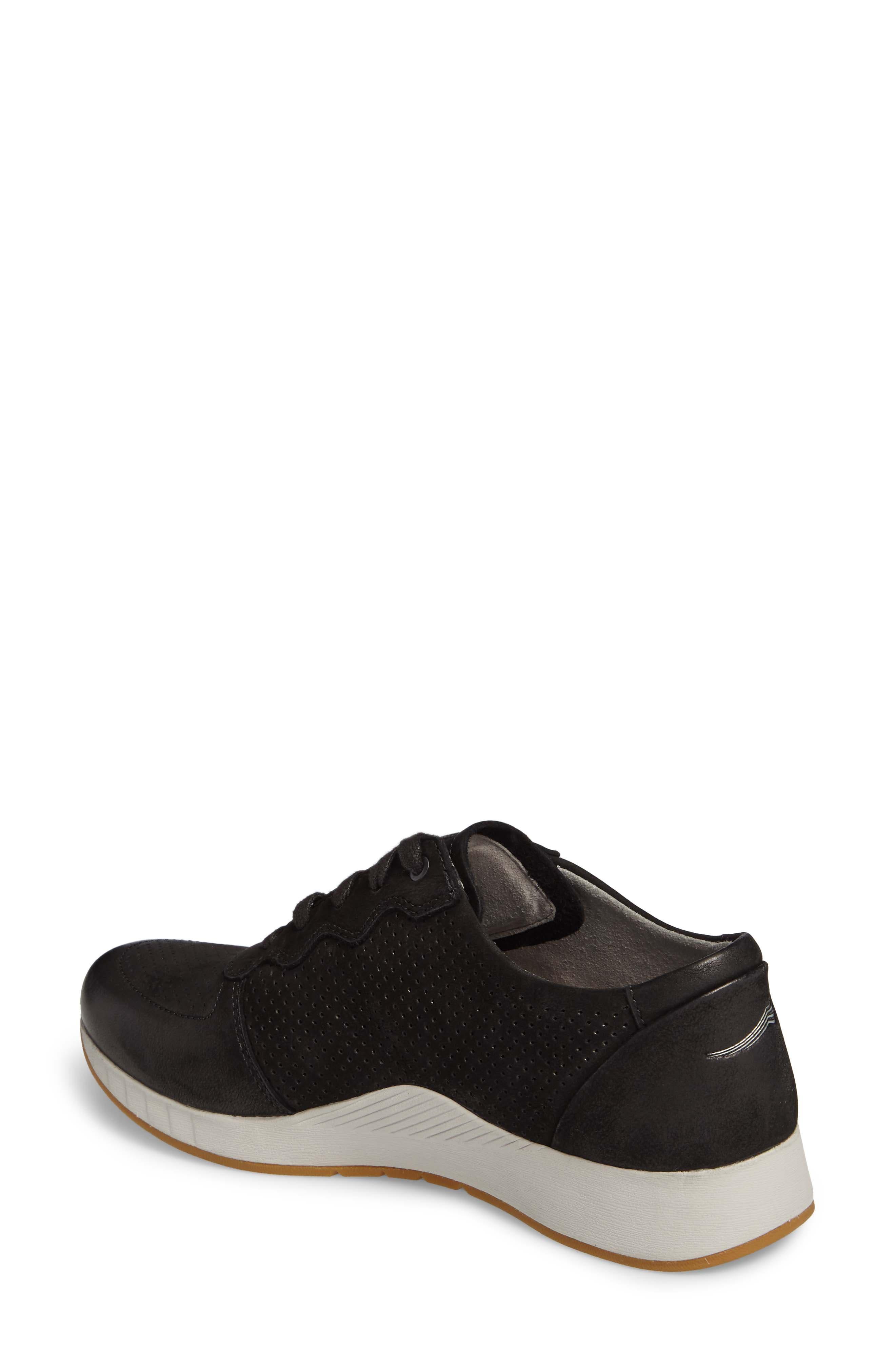 Christina Sneaker,                             Alternate thumbnail 2, color,                             Black Nubuck Leather