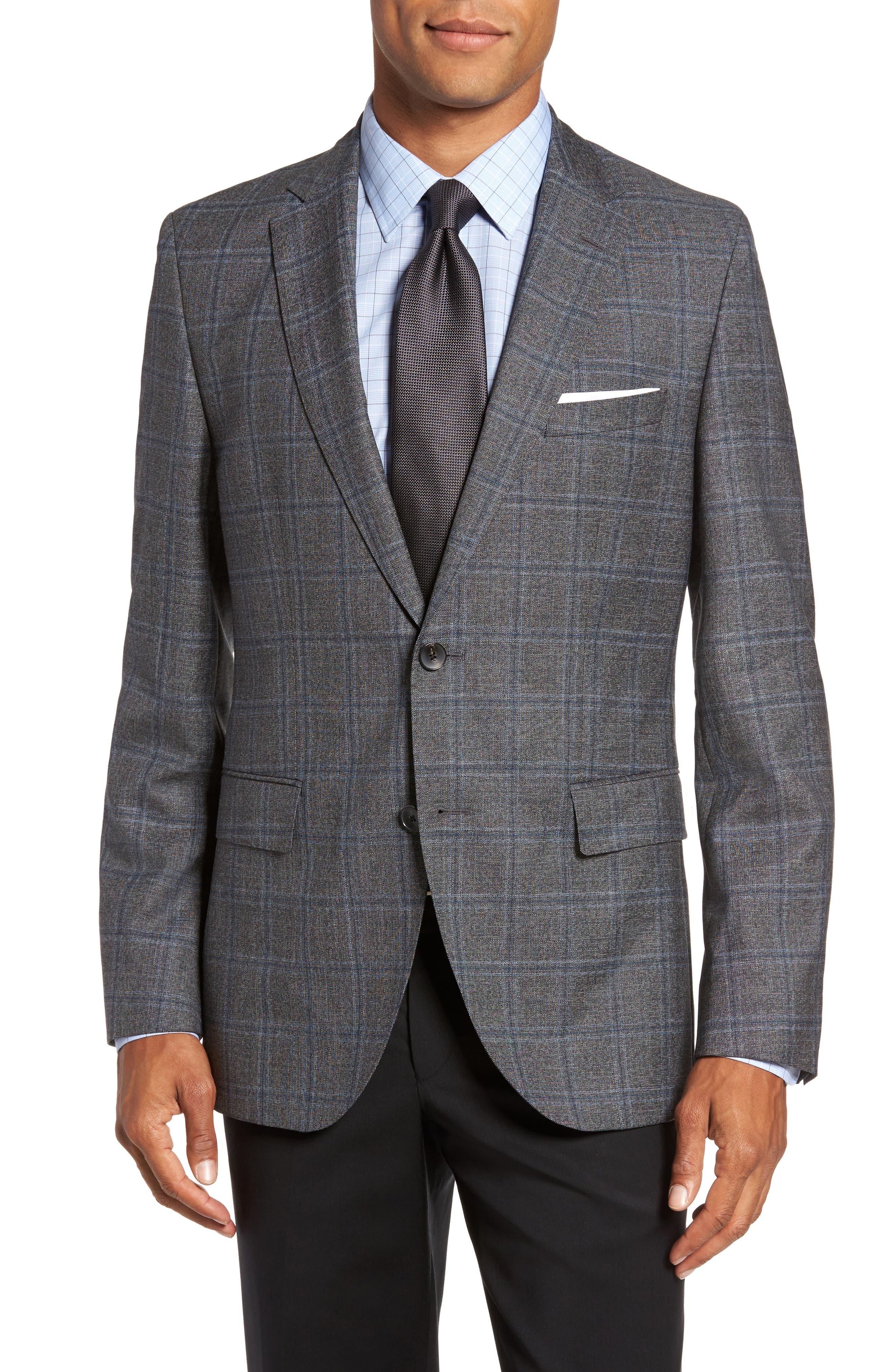 Jeen Trim Fit Wool Sport Coat,                         Main,                         color, Open Grey