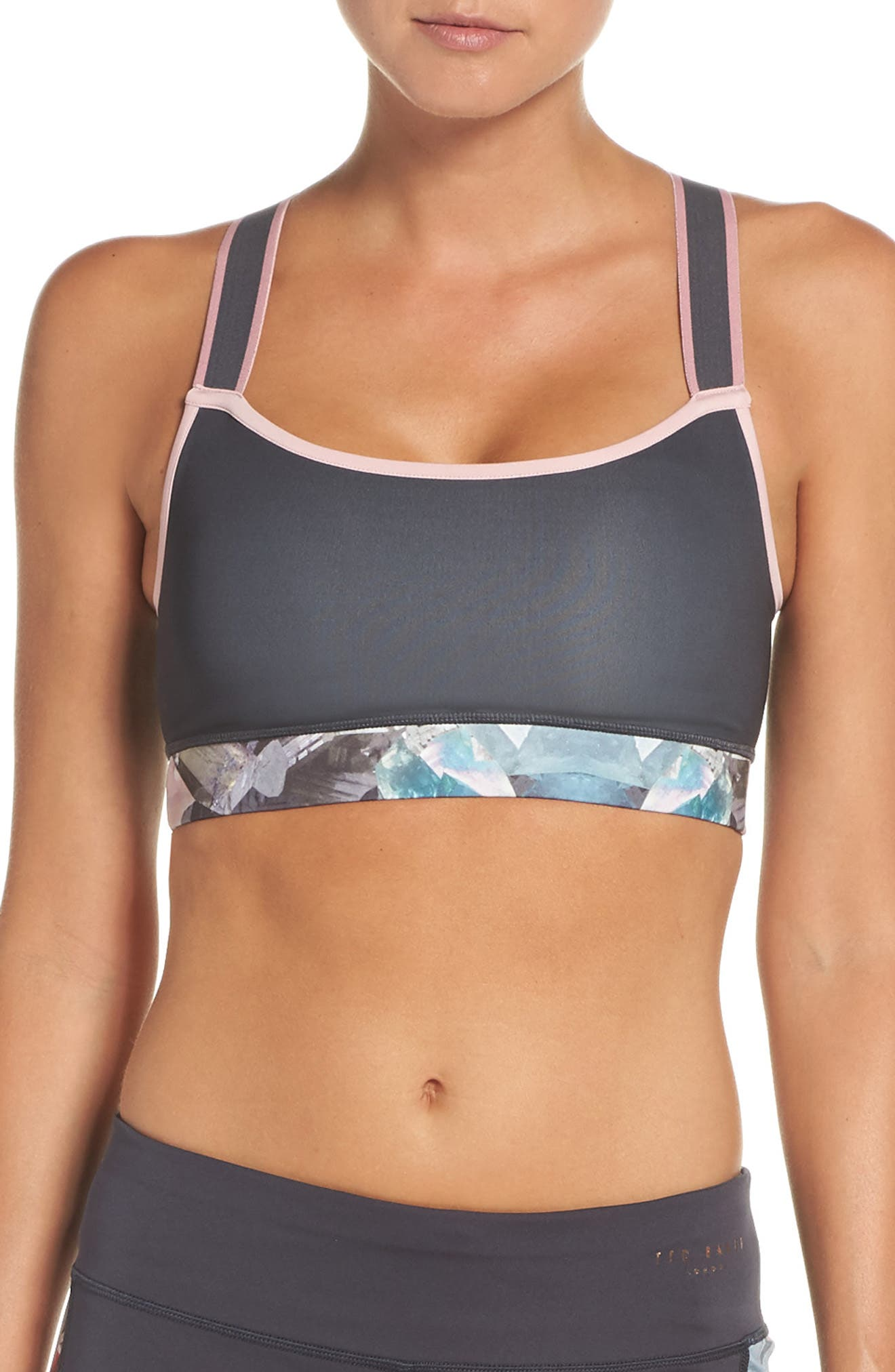 Mineral Sports Bra,                         Main,                         color, Mid Grey