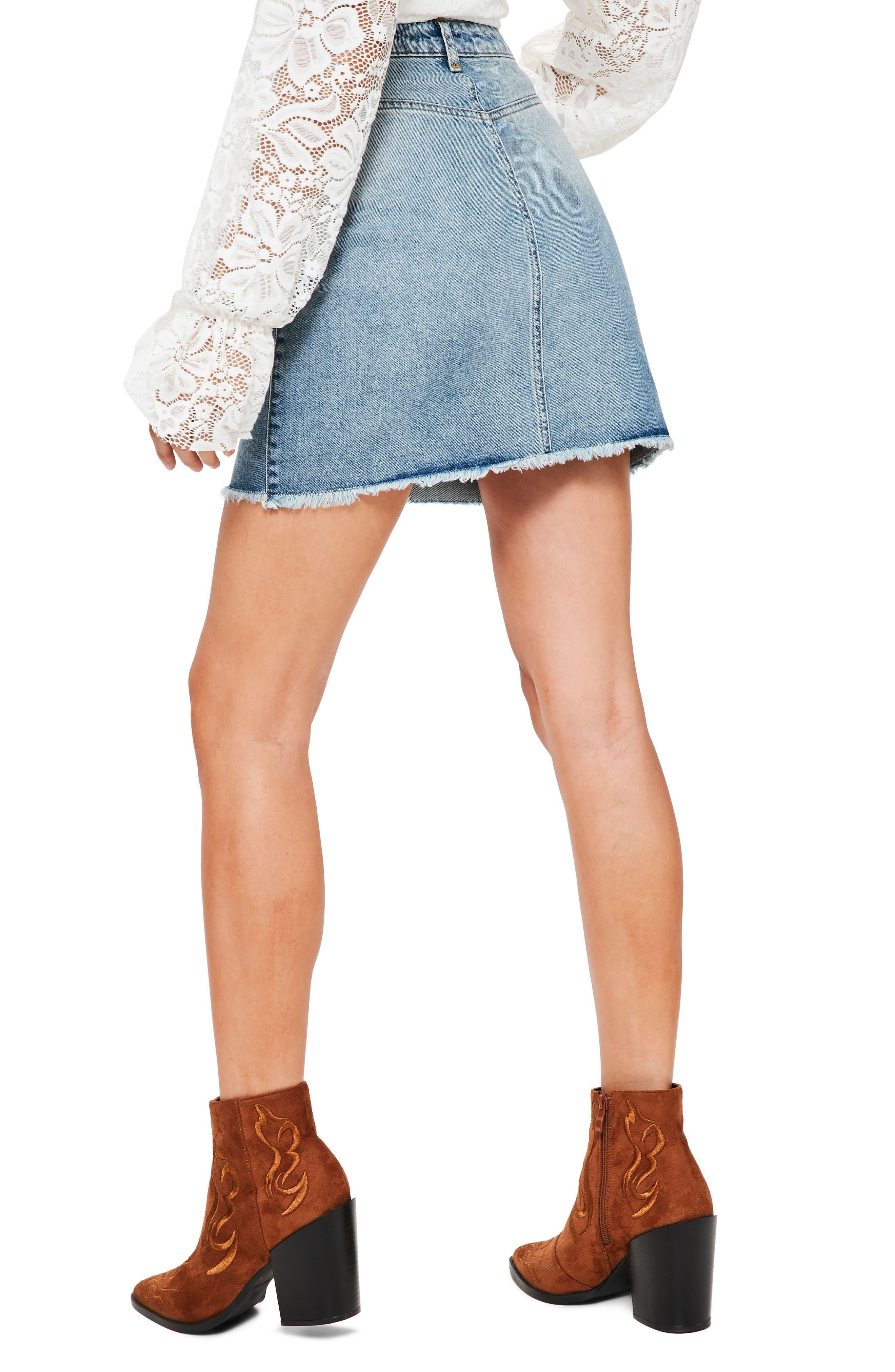 Alternate Image 2  - Missguided High Rise Denim Miniskirt