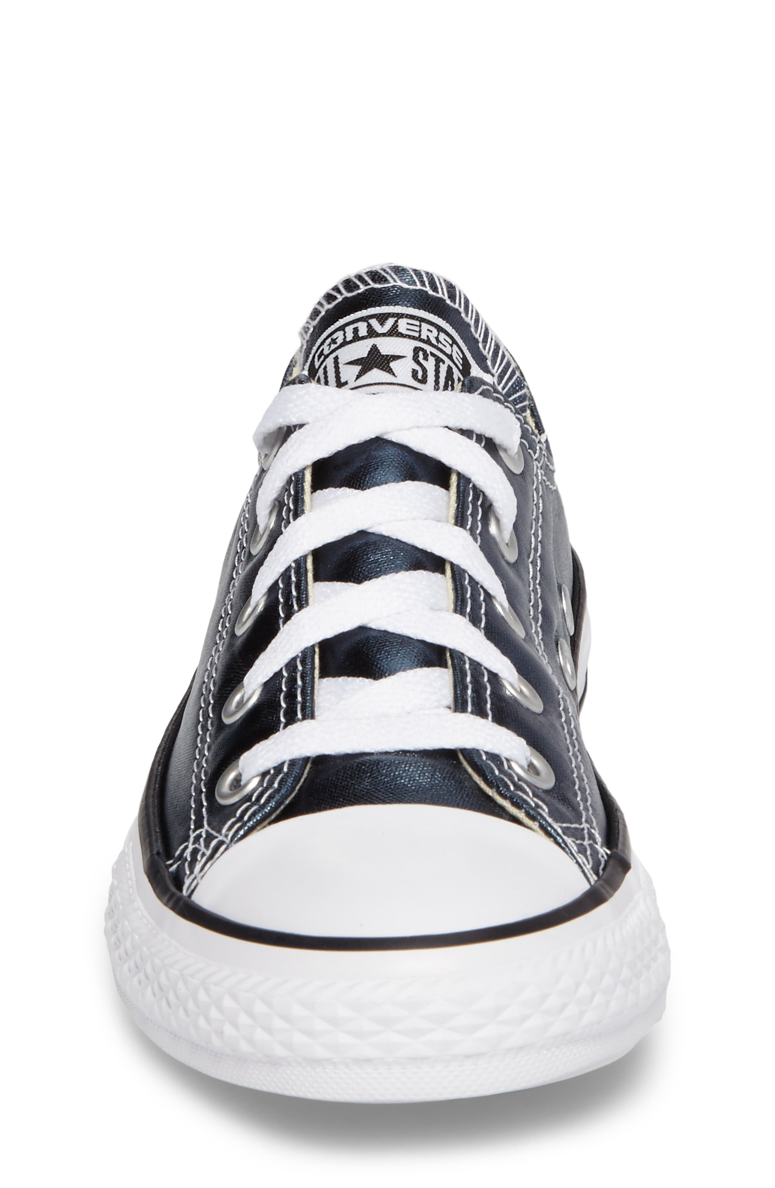 Chuck Taylor<sup>®</sup> All Star<sup>®</sup> Metallic Sneaker,                             Alternate thumbnail 4, color,                             Blue Metallic Coated Canvas