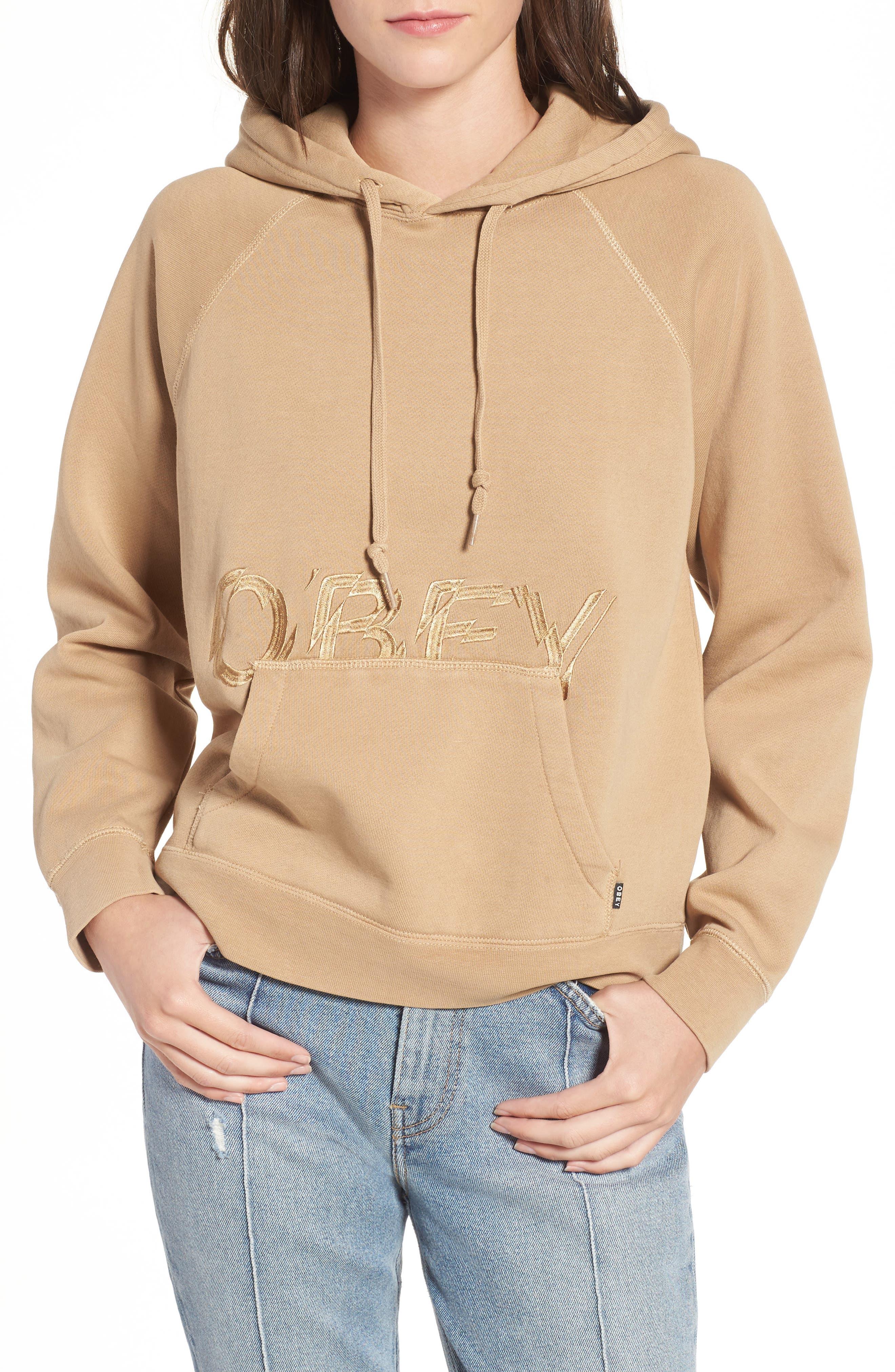 Alternate Image 1 Selected - Obey Parkside Hooded Pullover