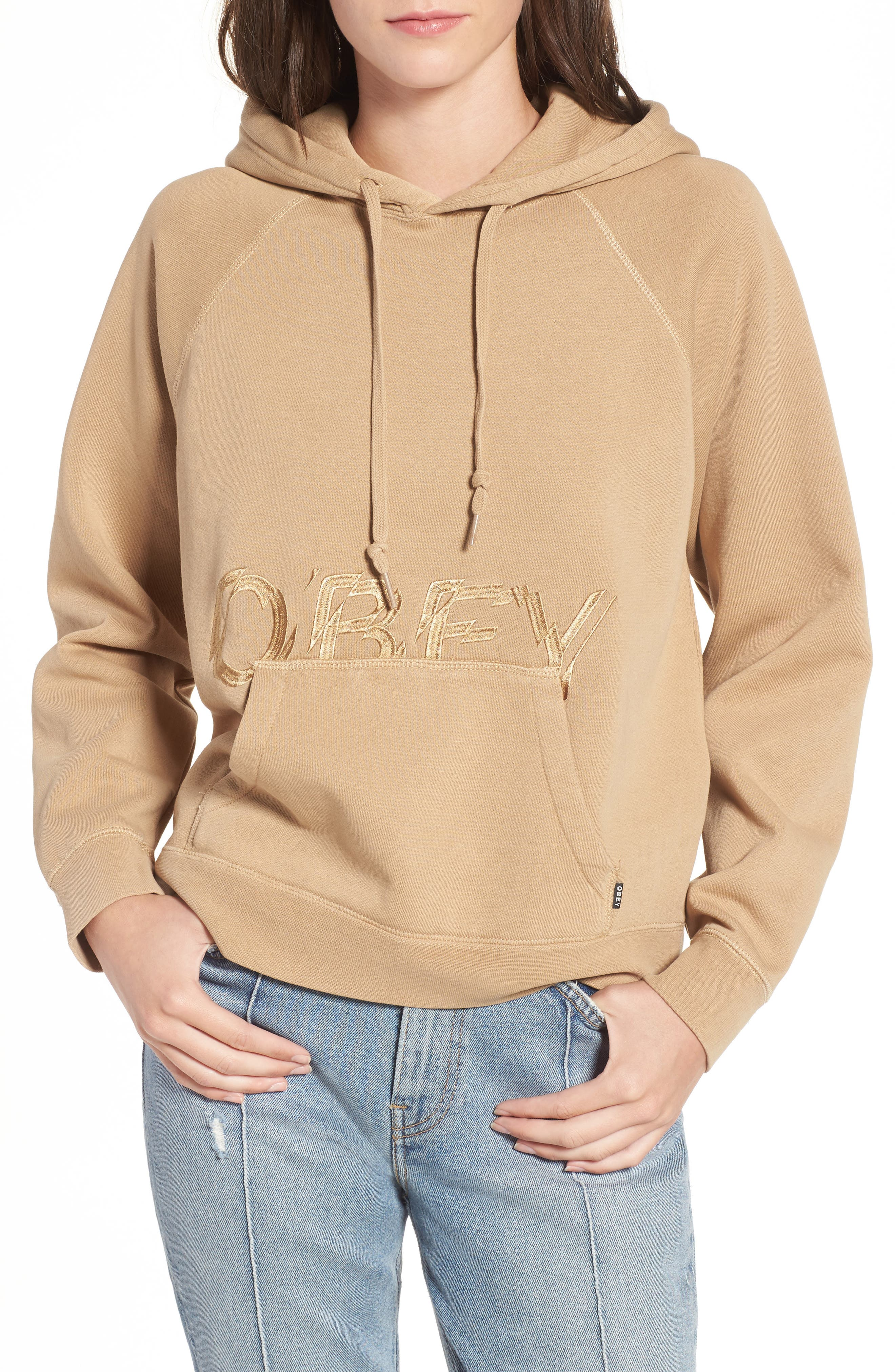 Parkside Hooded Pullover,                         Main,                         color, Cashew