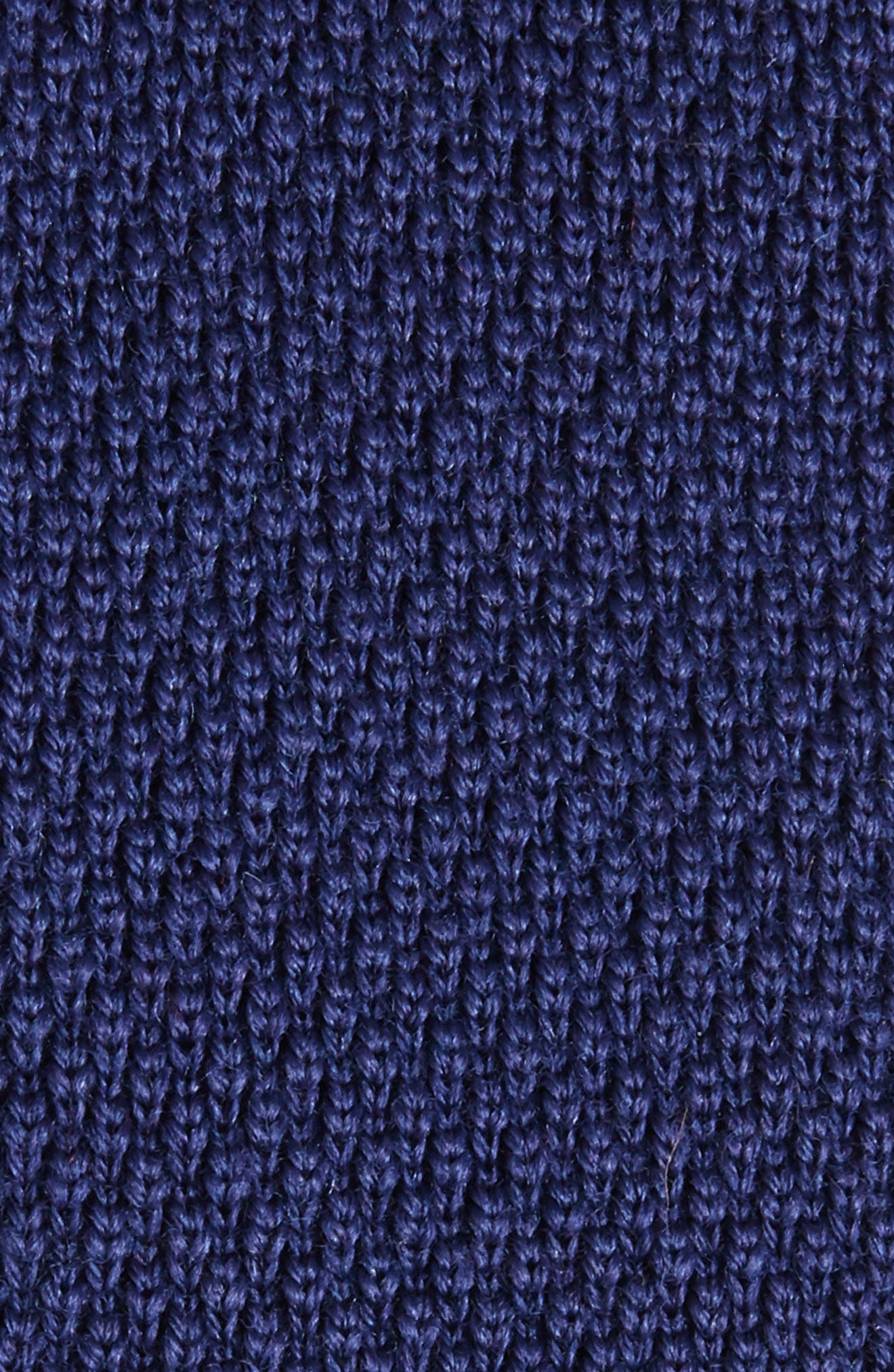 Solid Knit Wool Skinny Tie,                             Alternate thumbnail 2, color,                             Blue