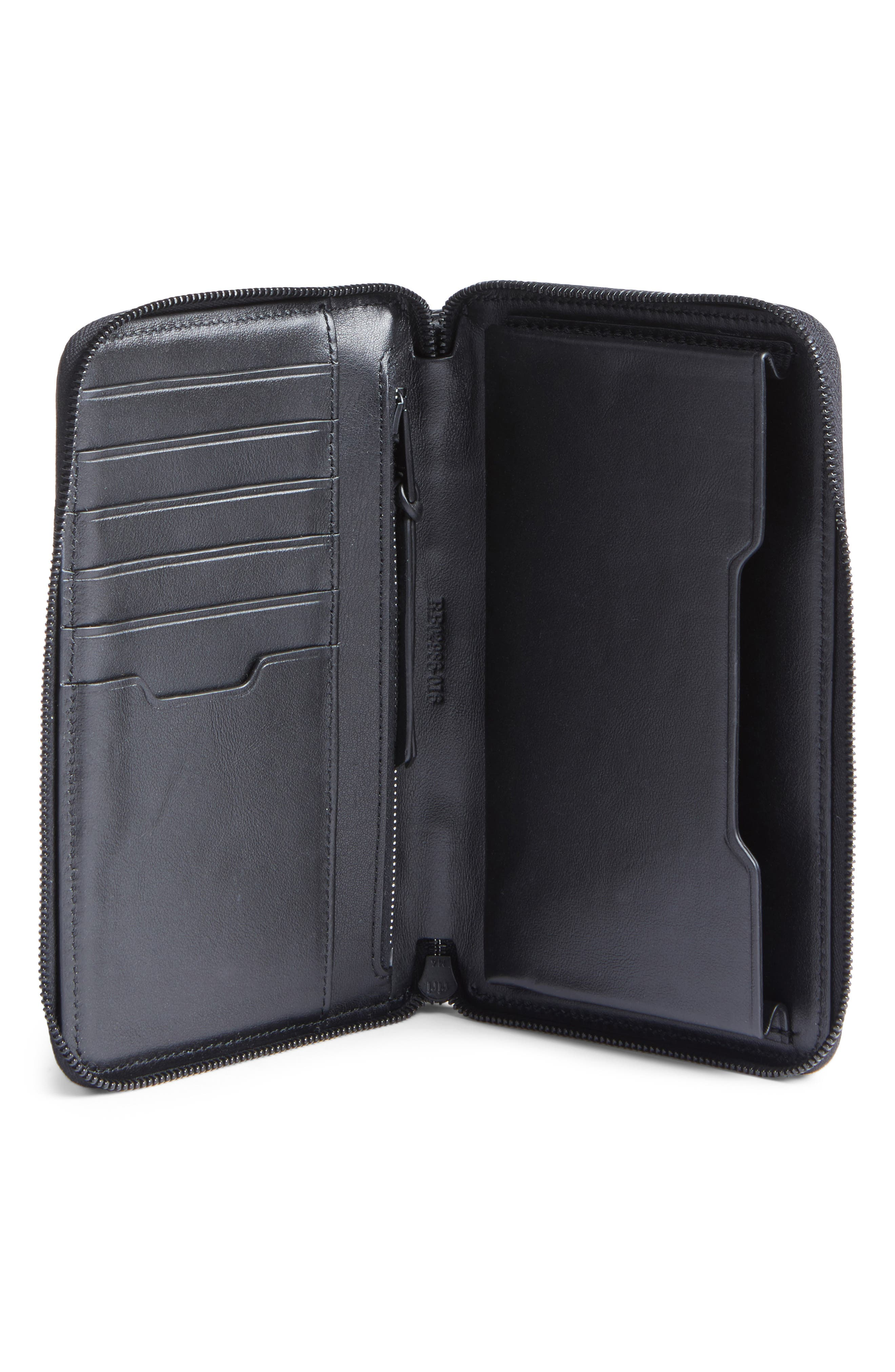 Devon Metallic Buffalo Leather Phone Wallet,                             Alternate thumbnail 2, color,                             Gunmetal