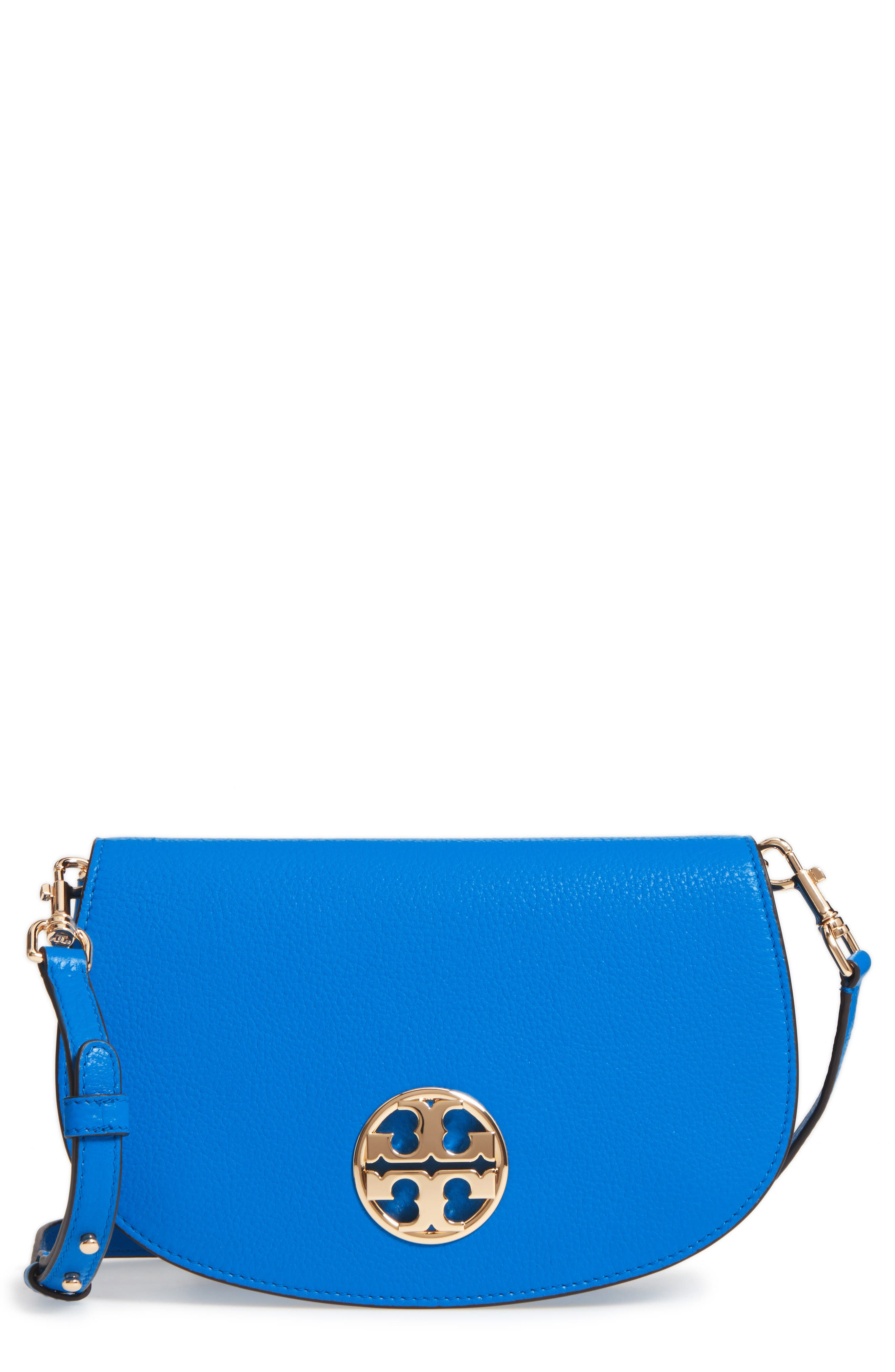 Main Image - Tory Burch Jamie Convertible Leather Clutch