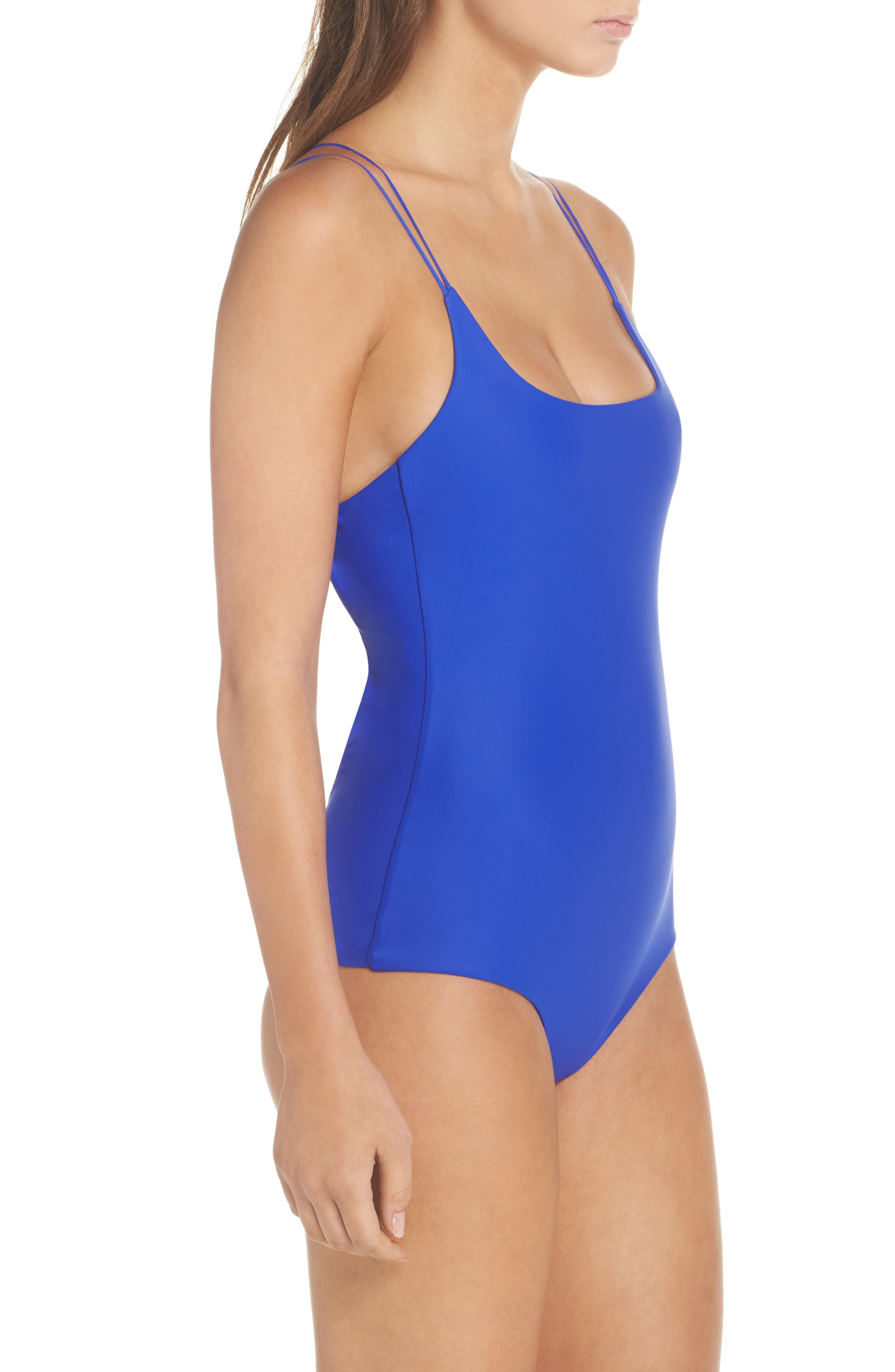 Kilauea One-Piece Swimsuit,                             Alternate thumbnail 3, color,                             Electric Eel