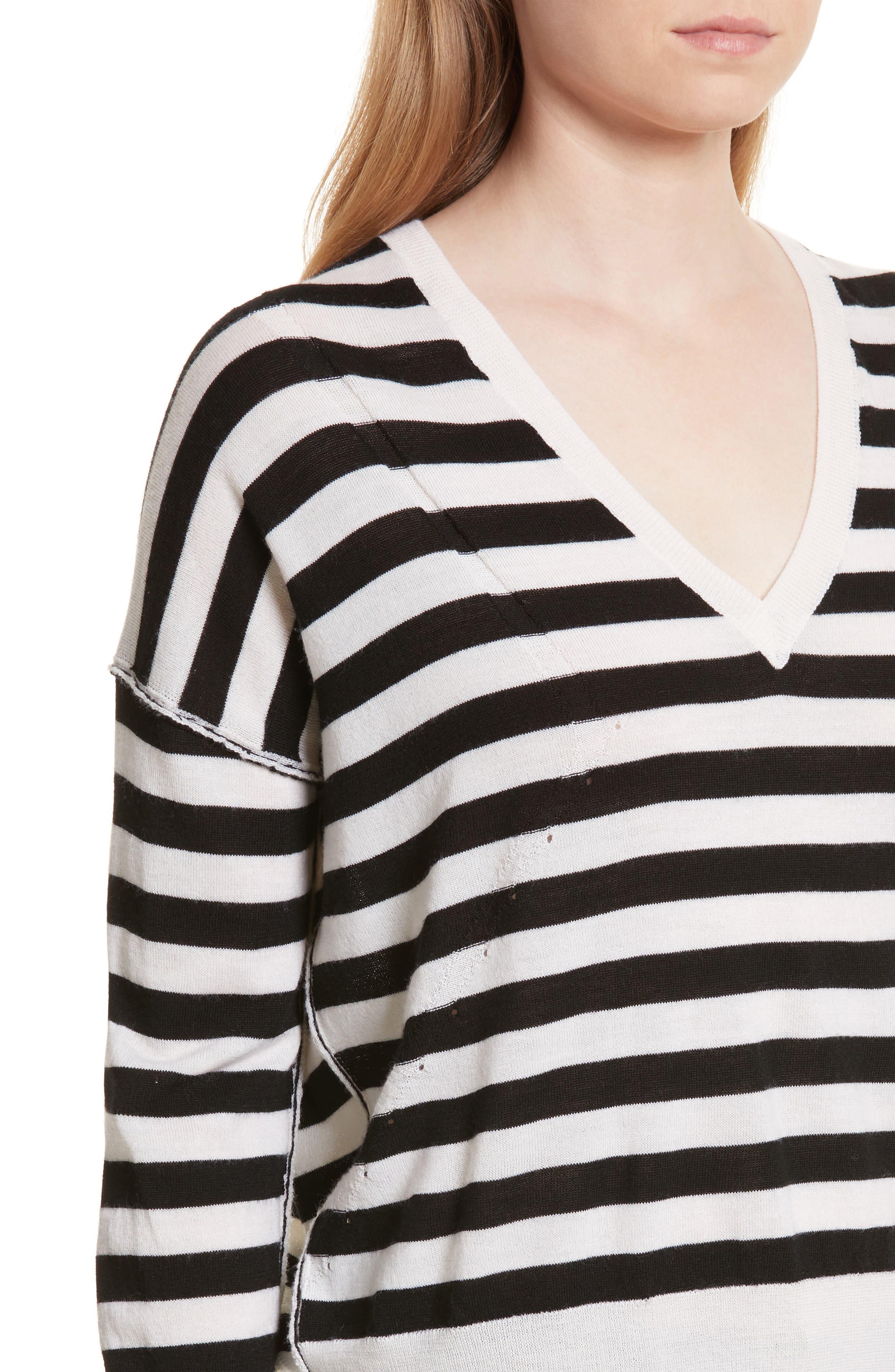 Alternate Image 4  - rag & bone/JEAN Bevan Stripe Wool Sweater